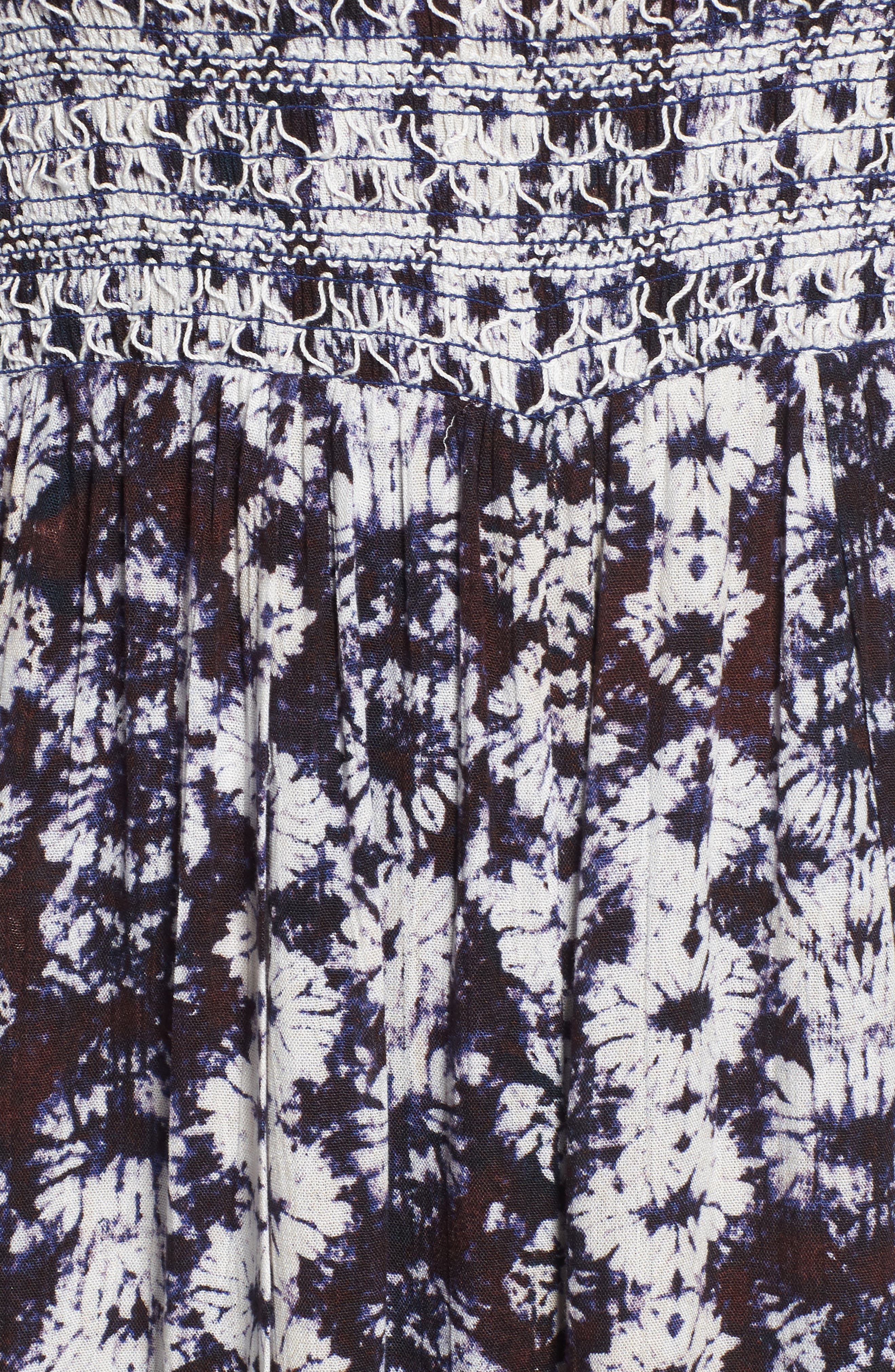 Violeta Print Jumpsuit,                             Alternate thumbnail 6, color,                             PURPLE MULTI