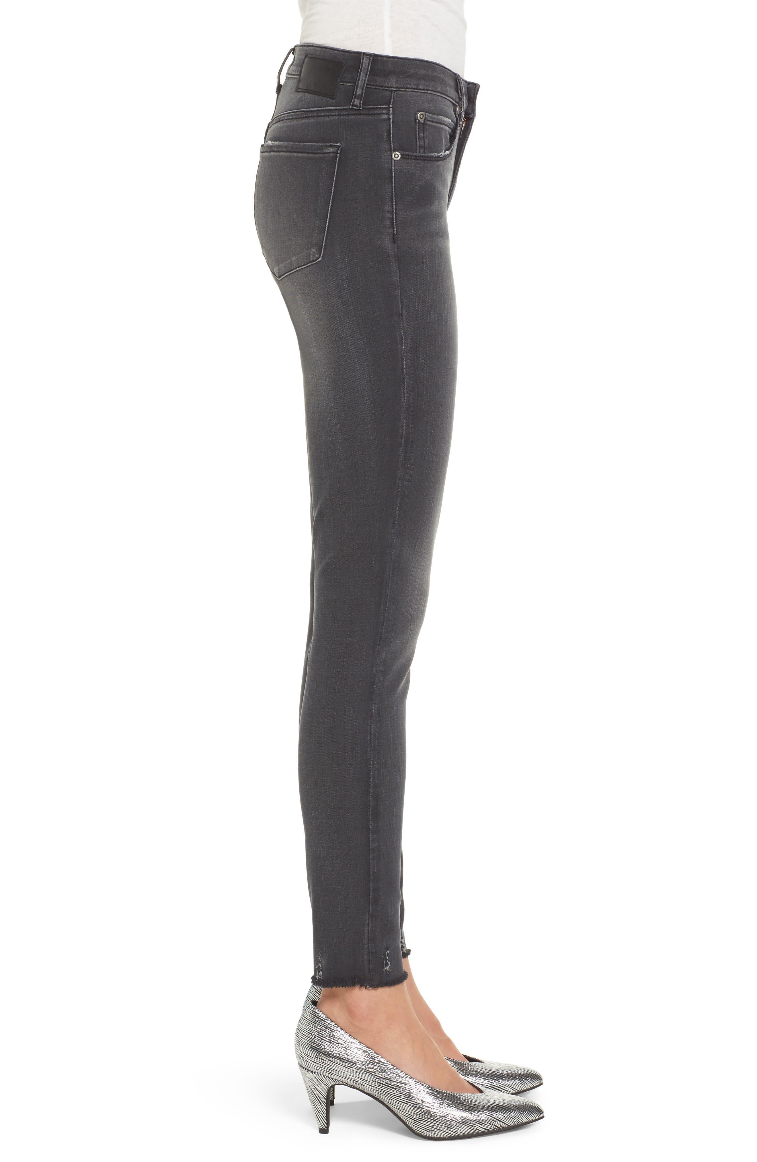 Frayed Hem Skinny Jeans,                             Alternate thumbnail 3, color,