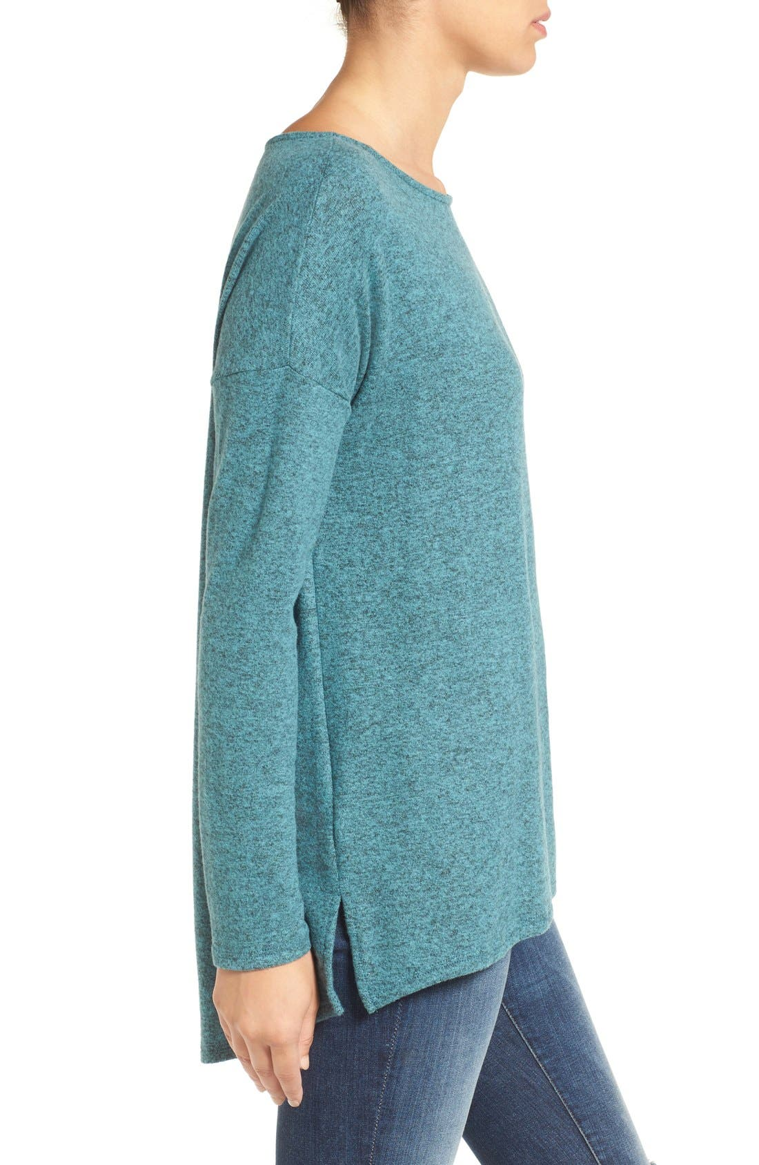 Cozy Ballet Neck High/Low Pullover,                             Alternate thumbnail 45, color,