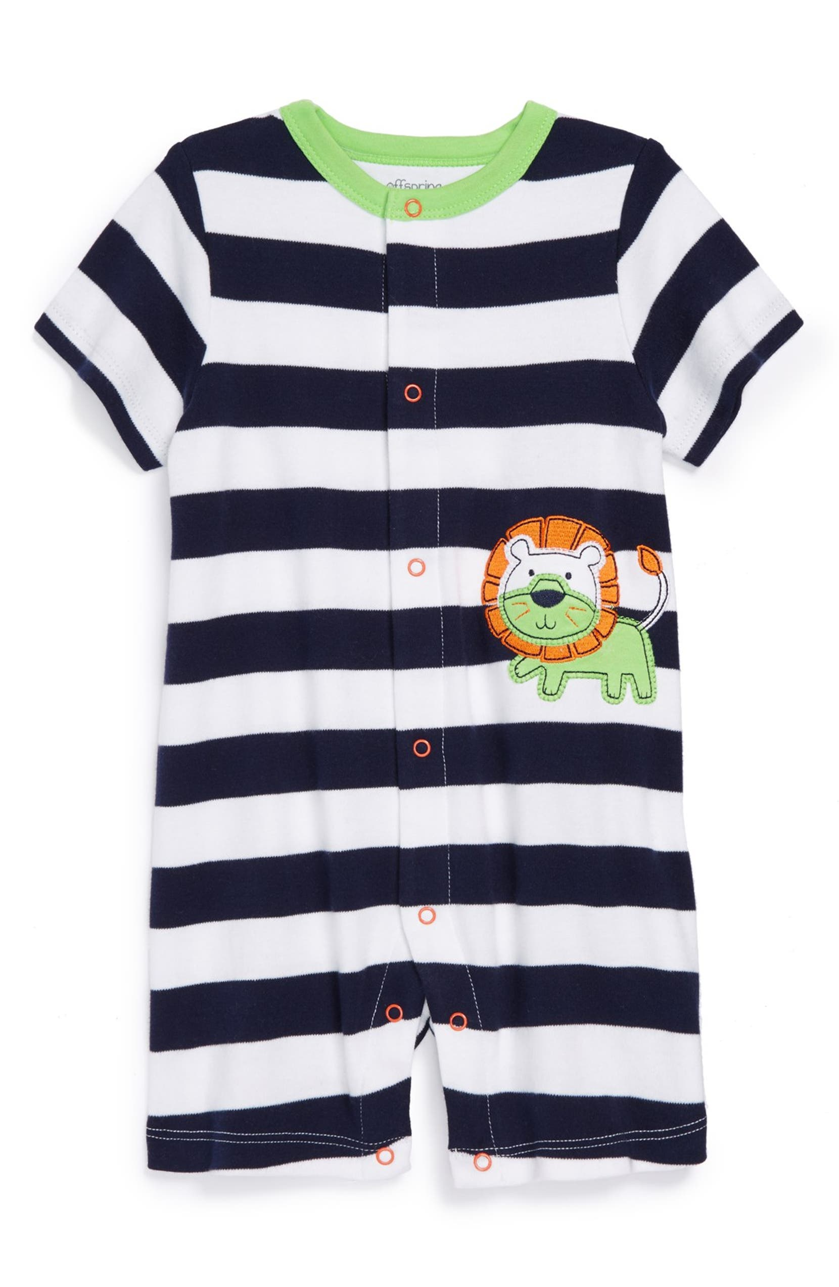 983195a1a Offspring  Lion  Cotton Romper (Baby Boys)