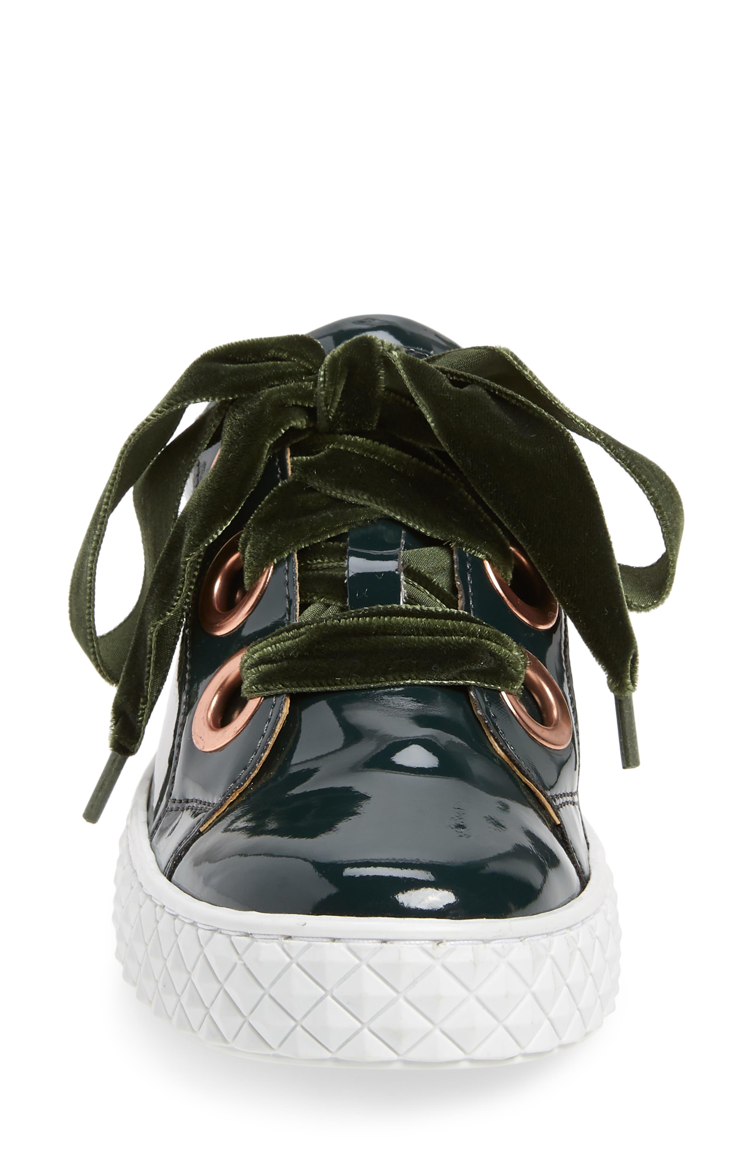 Acton III Sneaker,                             Alternate thumbnail 4, color,                             BOTTLE GREEN LEATHER
