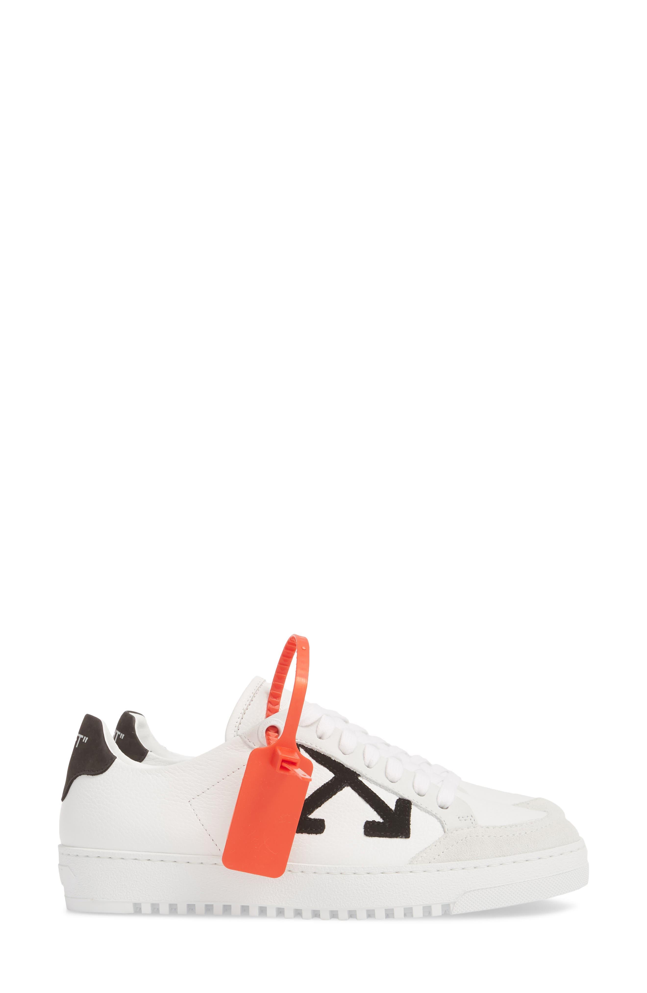 Arrow Sneaker,                             Alternate thumbnail 4, color,                             WHITE BLACK