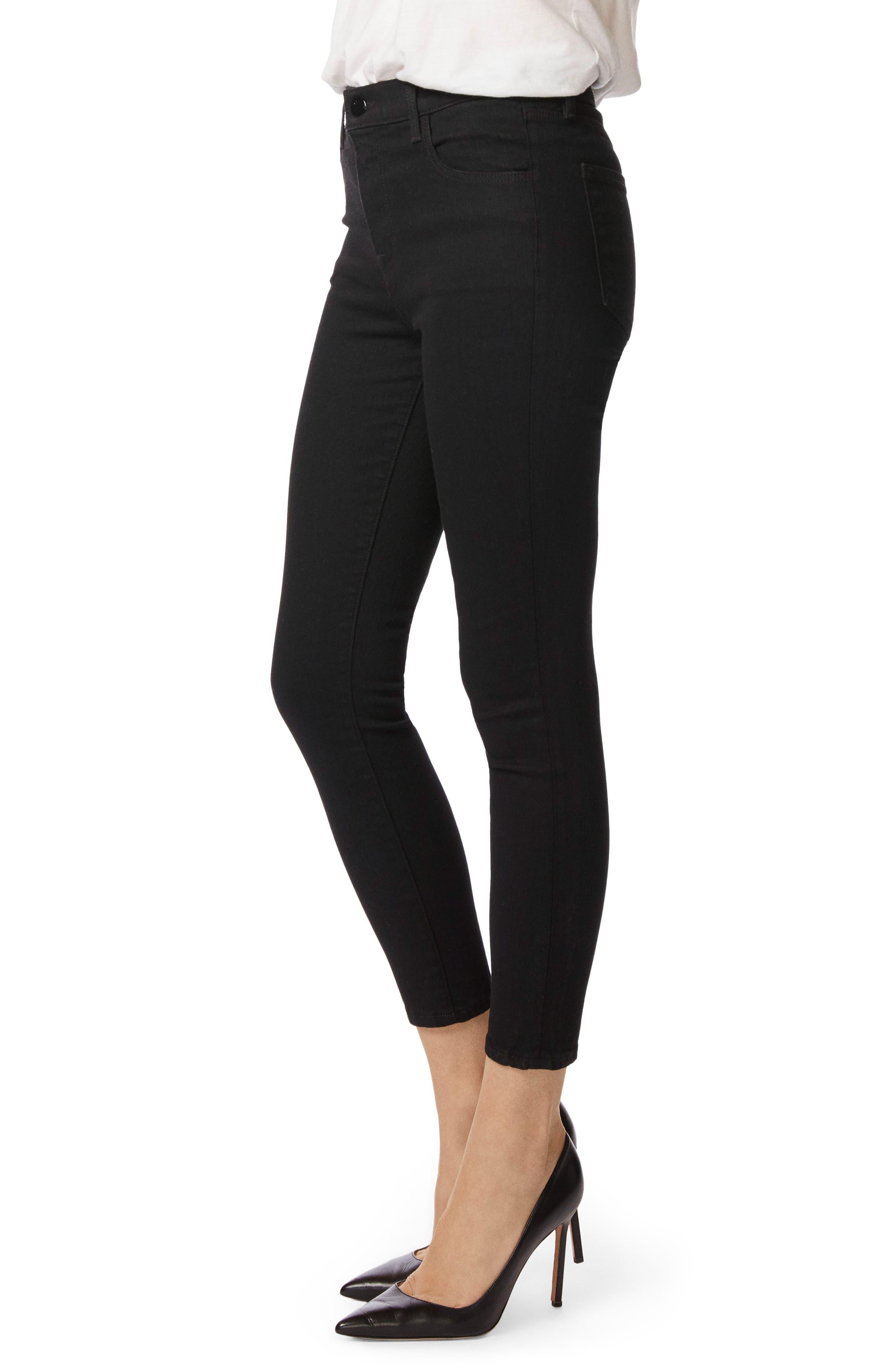 Alana High Waist Crop Skinny Jeans,                             Alternate thumbnail 4, color,                             002