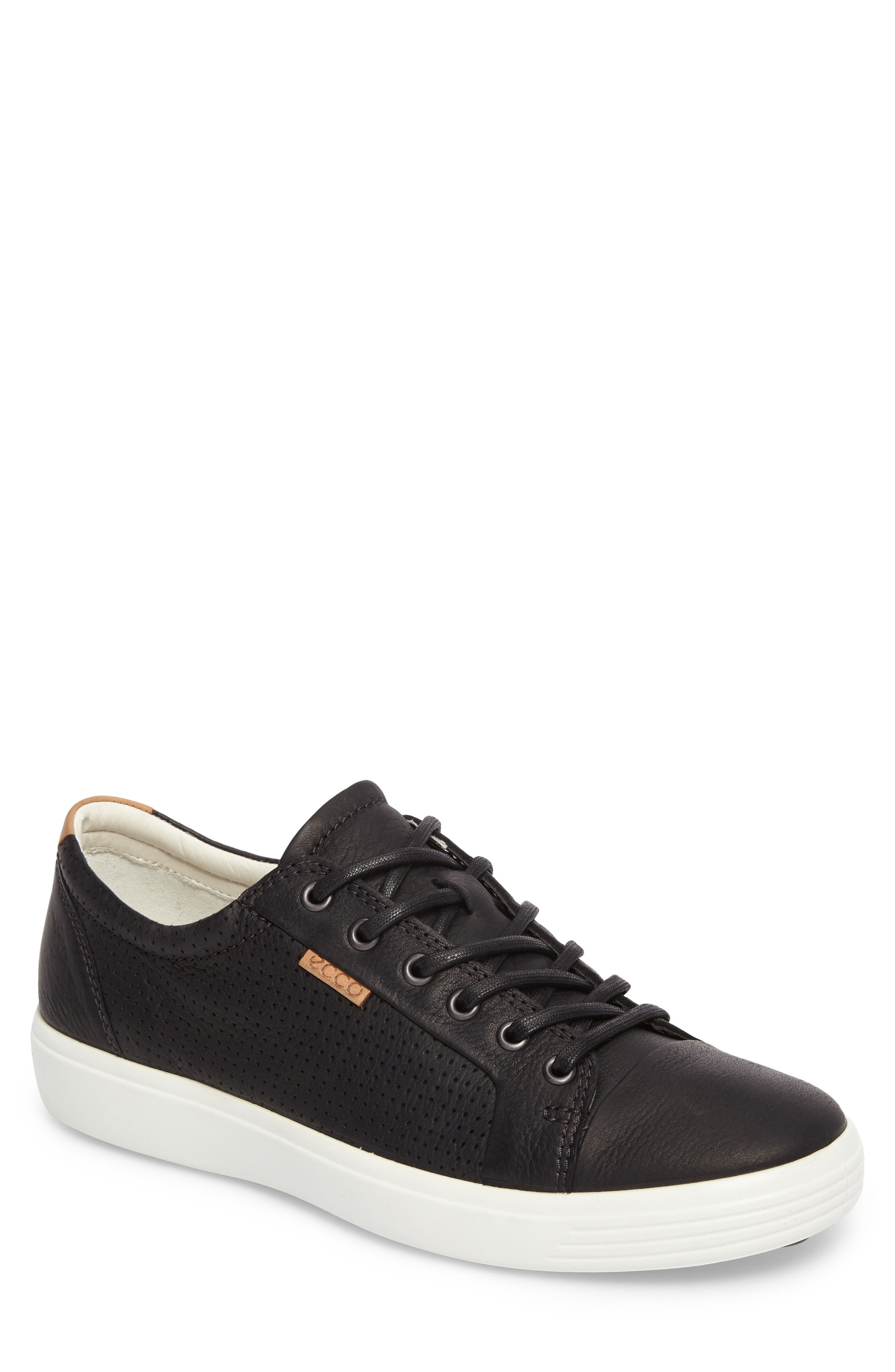 'Soft 7' Sneaker,                         Main,                         color, BLACK LEATHER