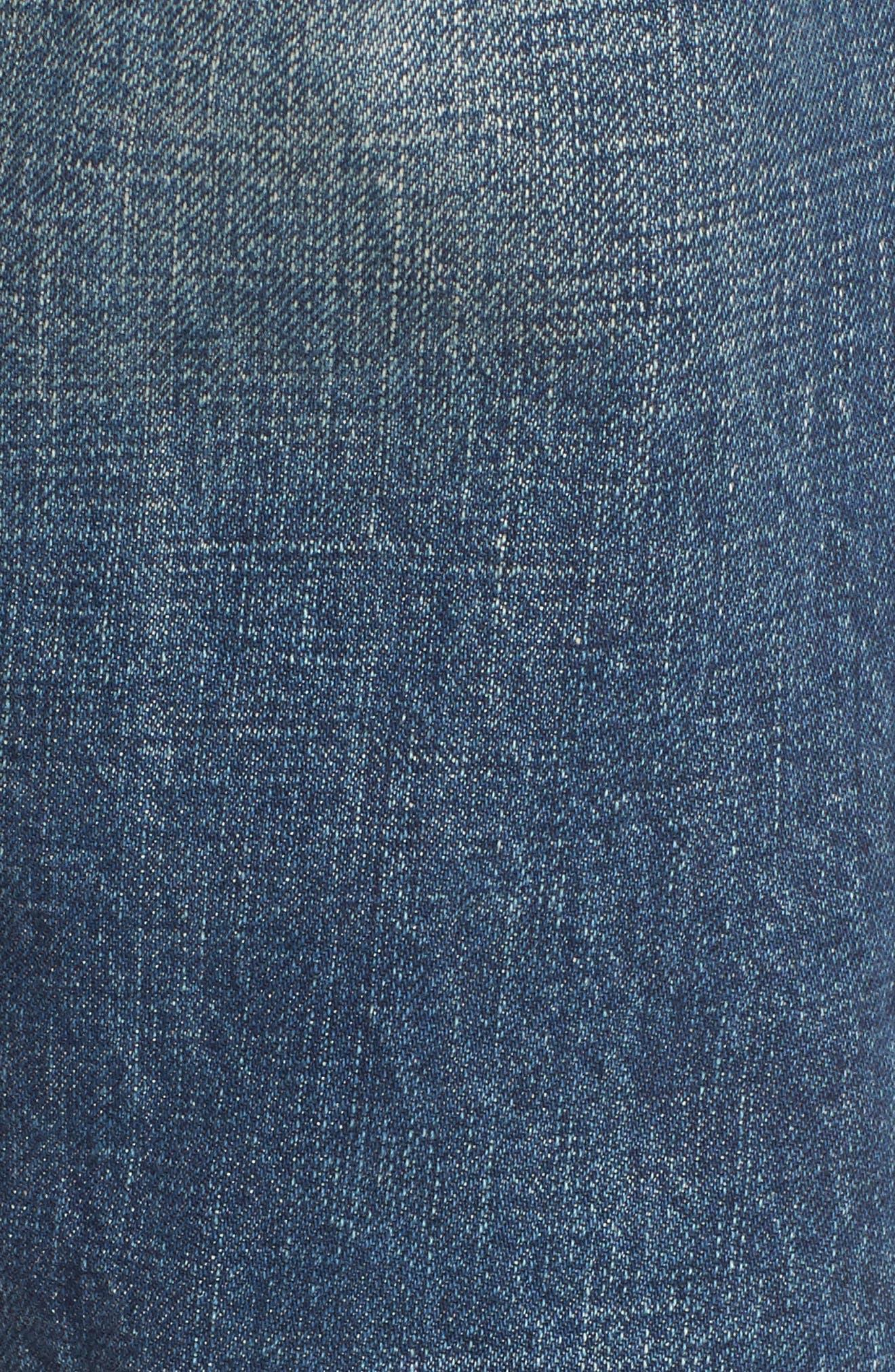 The Selvedge High Waist Crop Jeans,                             Alternate thumbnail 5, color,                             404