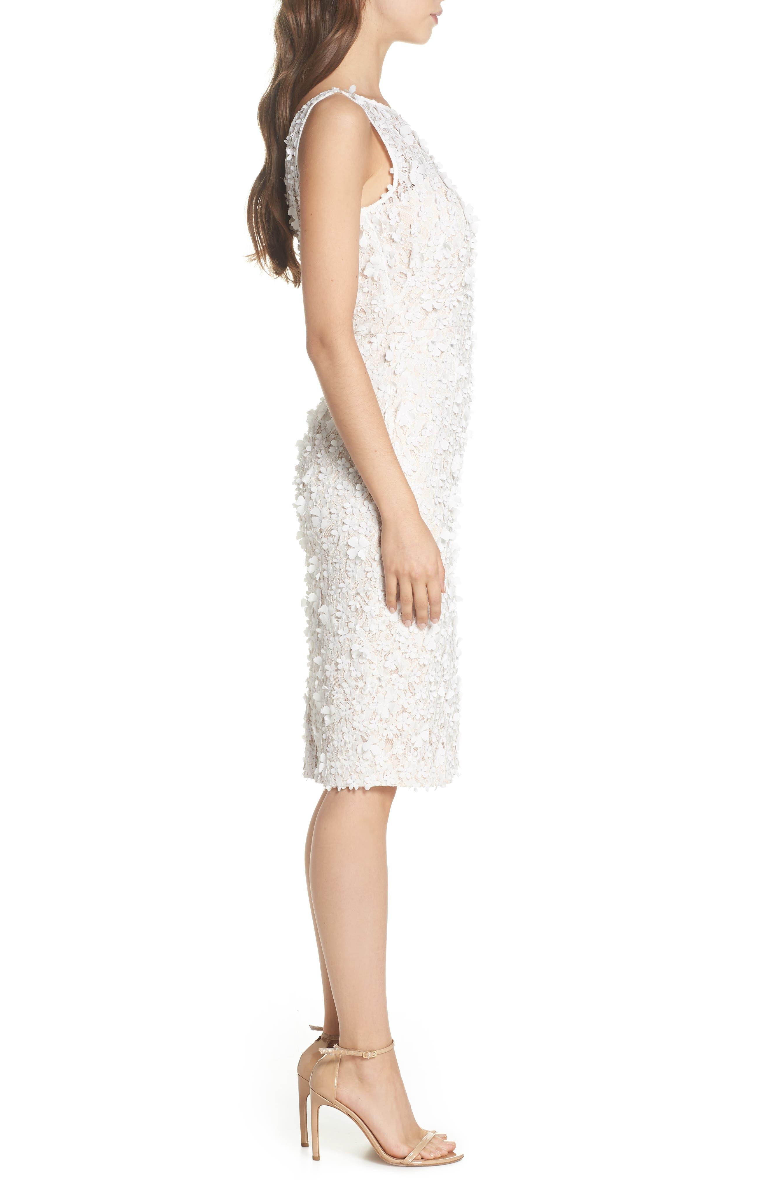 Appliqué Lace Sheath Dress,                             Alternate thumbnail 3, color,                             900