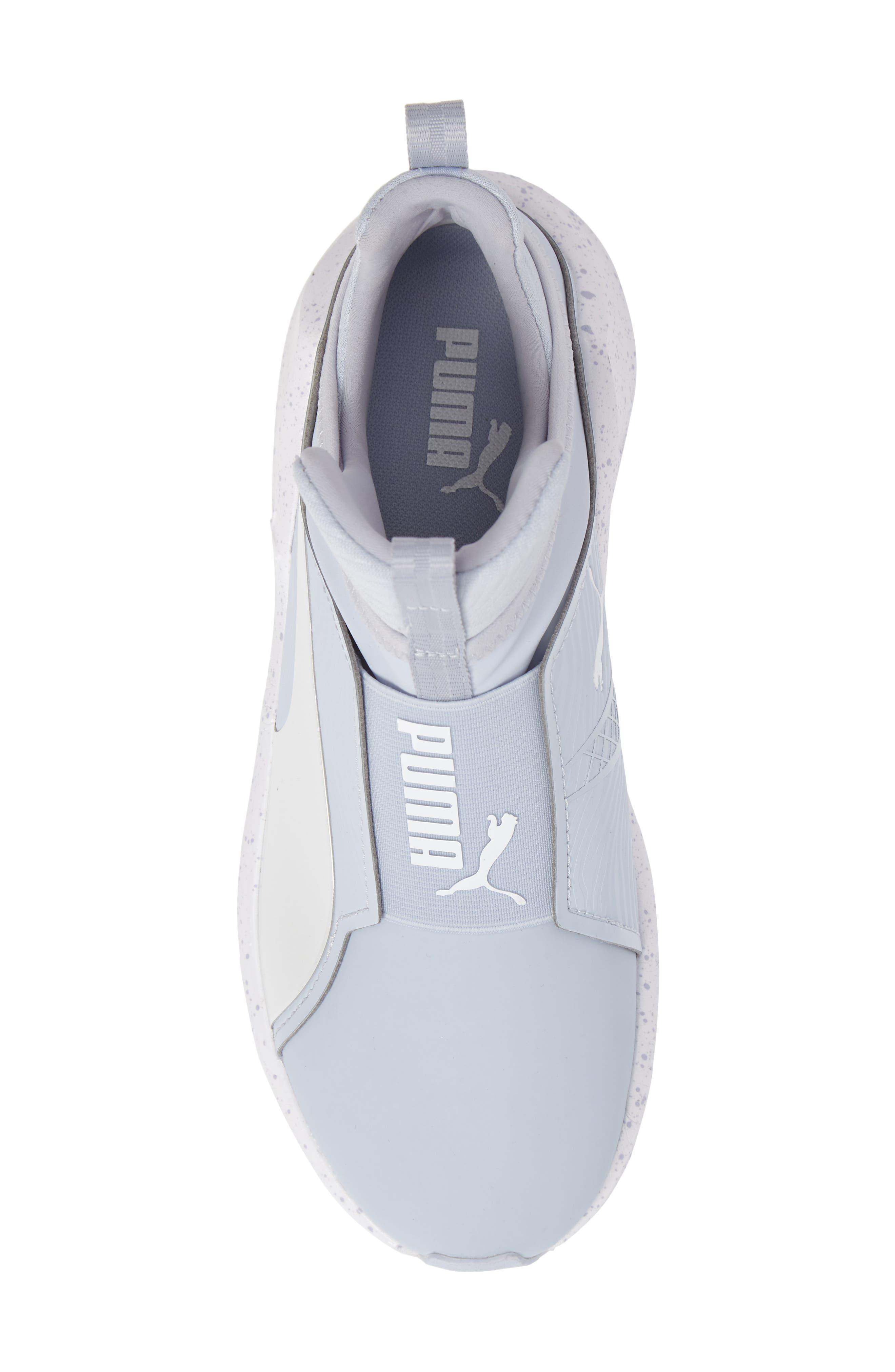 Fierce Bleached High Top Sneaker,                             Alternate thumbnail 5, color,                             400