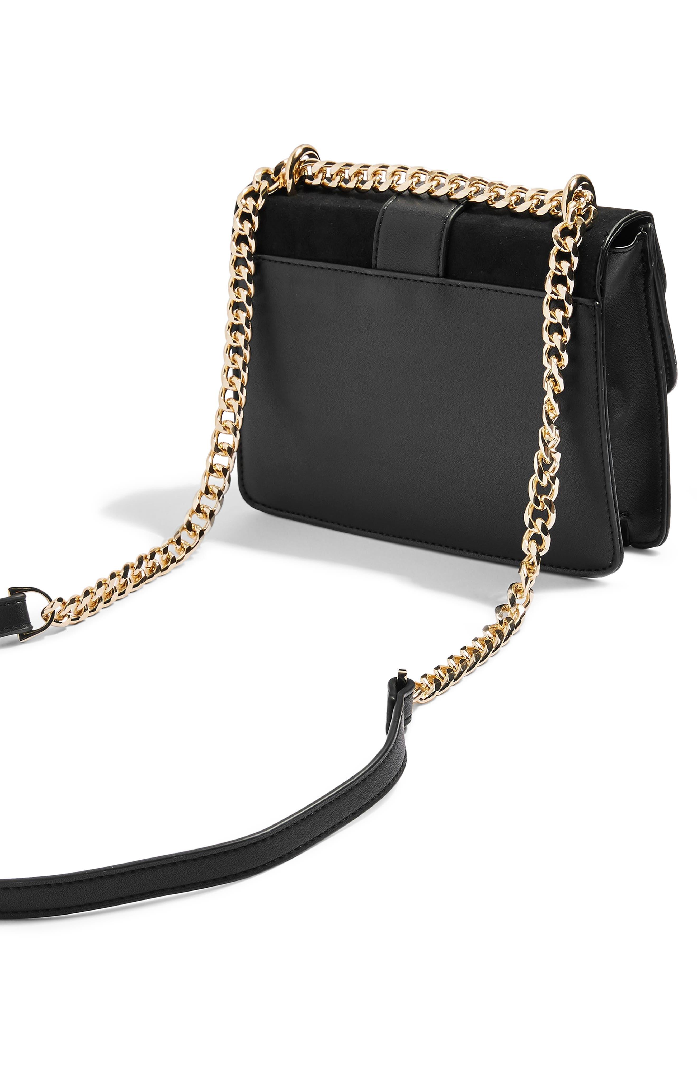 Shelby Stud Crossbody Bag,                             Alternate thumbnail 3, color,                             BLACK