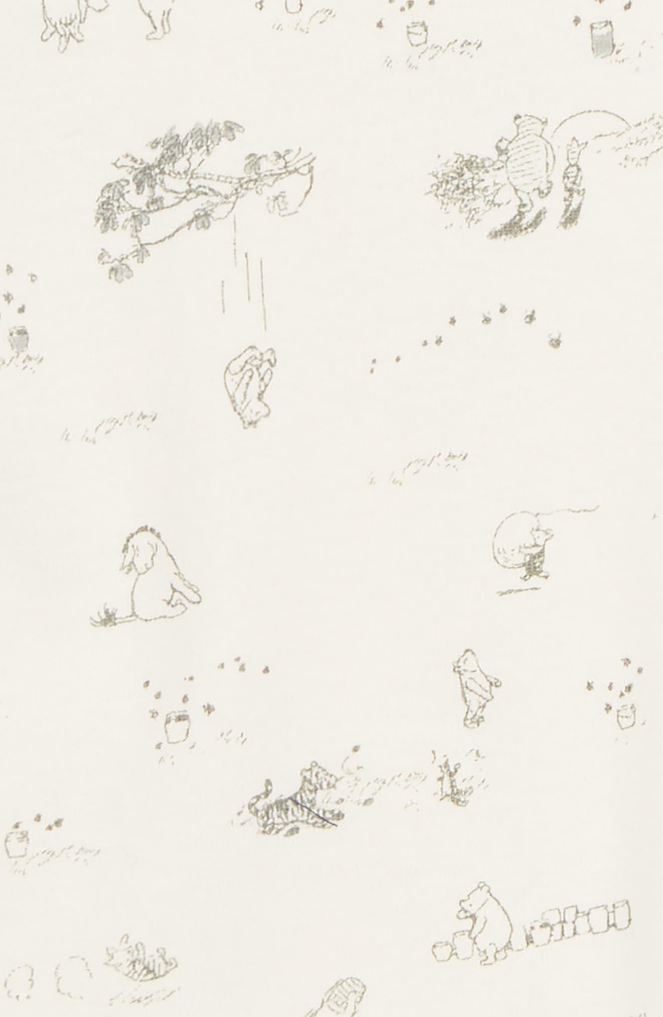 x Disney<sup>®</sup> Winnie the Pooh Organic Cotton Bodysuit,                             Alternate thumbnail 2, color,                             902