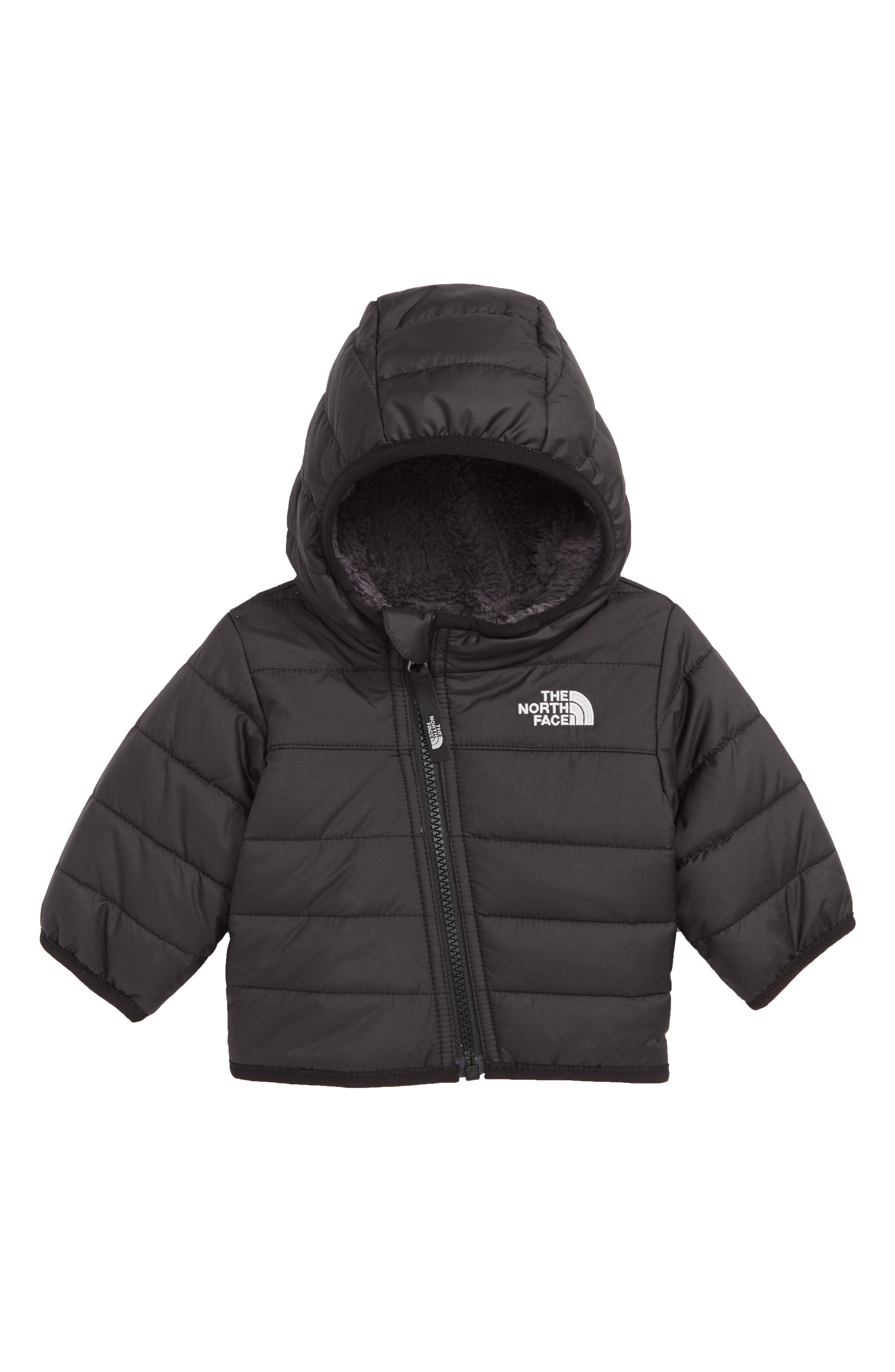 Mount Chimboraz Reversible Water Repellent Heatseeker<sup>™</sup> Insulated Hooded Jacket,                         Main,                         color, TNF BLACK
