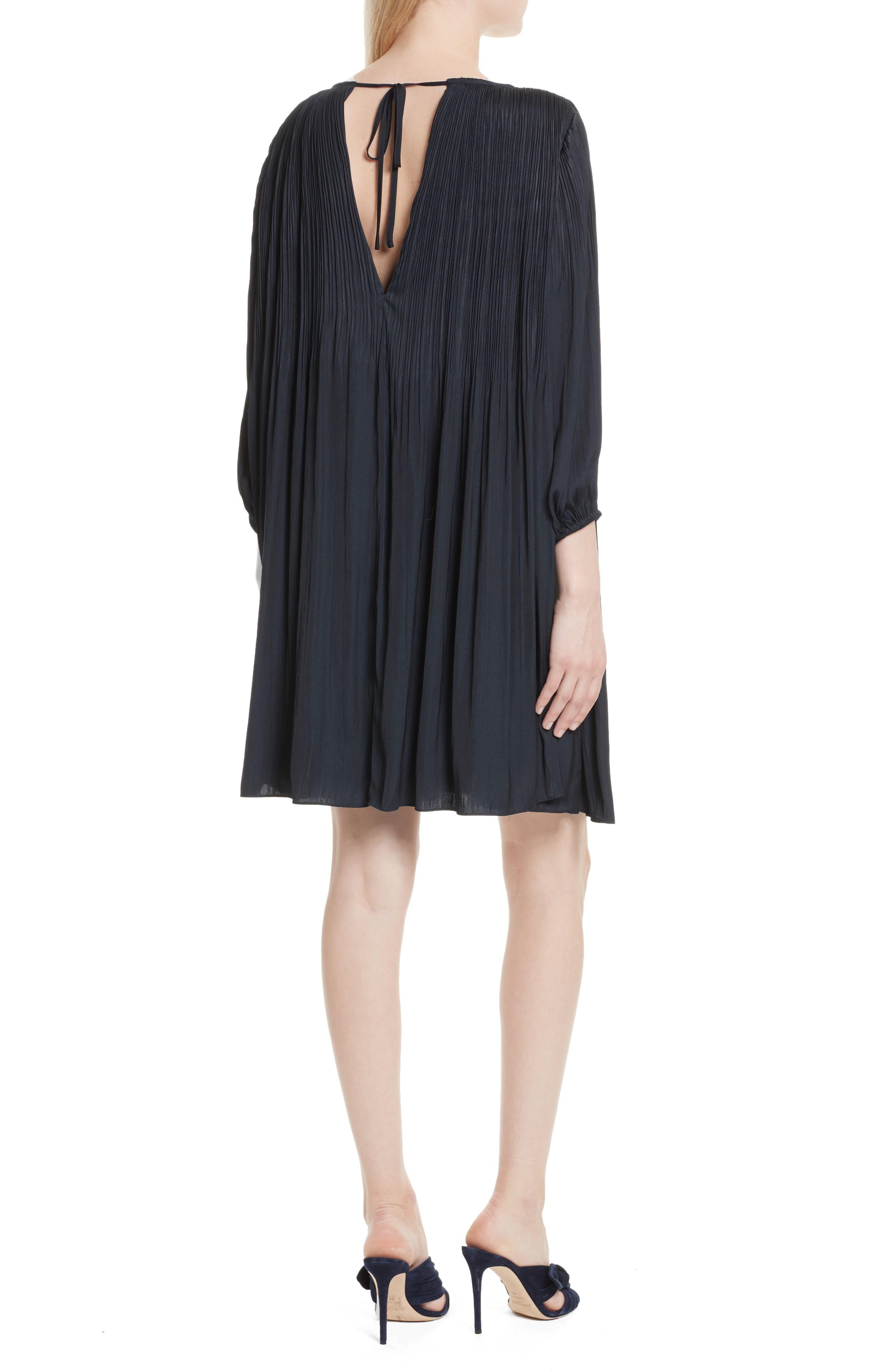 Florrie Pleated Shift Dress,                             Alternate thumbnail 2, color,                             410