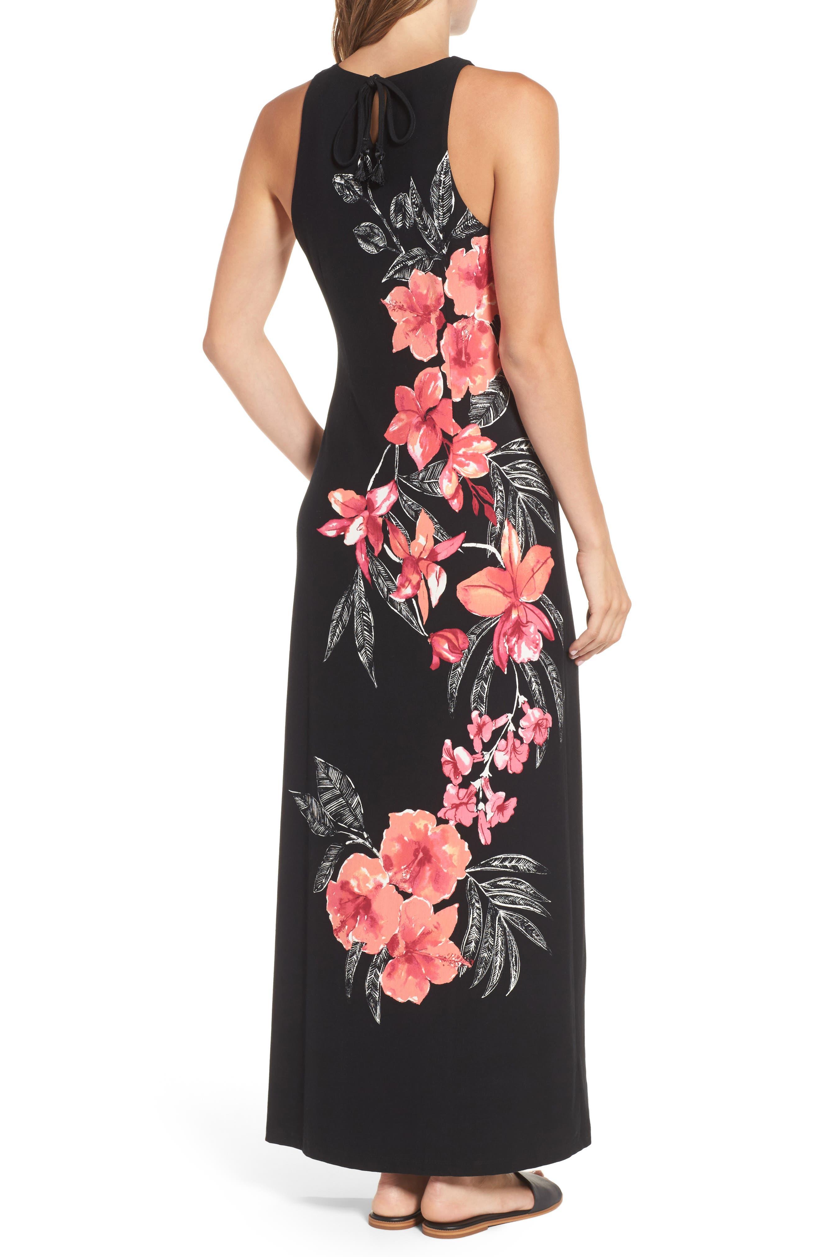 Bedoin Blossoms Maxi Dress,                             Alternate thumbnail 2, color,                             001