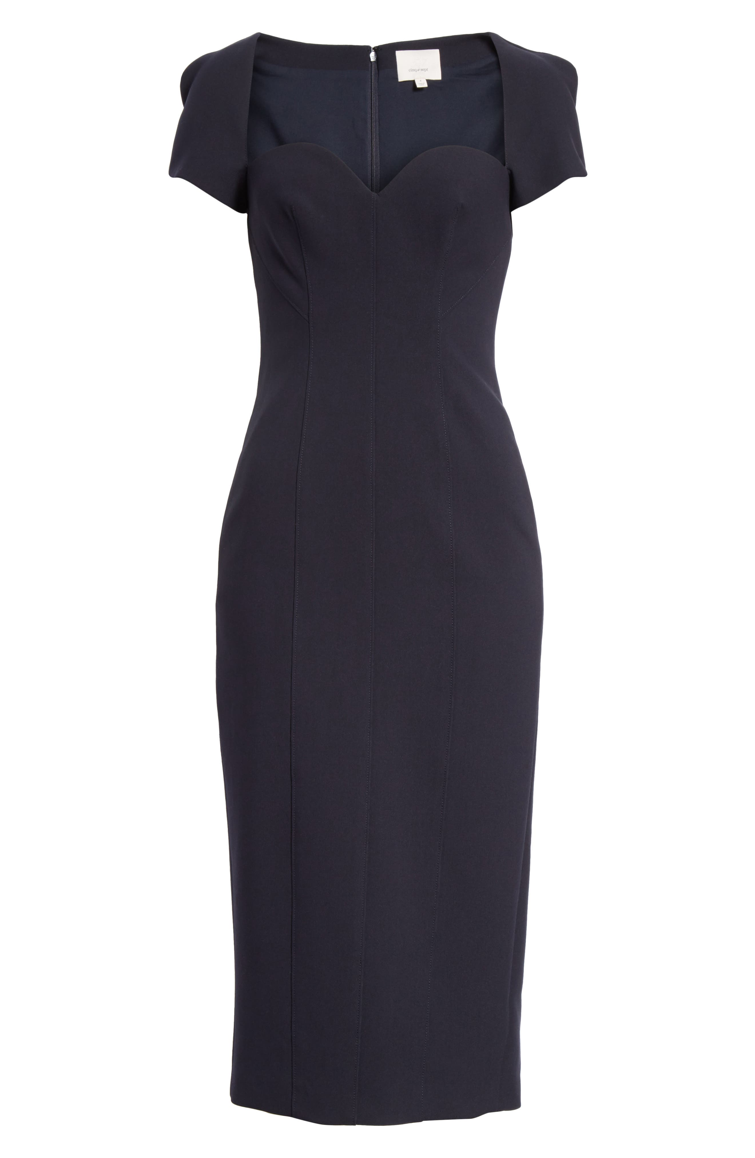 Gianna Sweetheart Neck Sheath Dress,                             Alternate thumbnail 6, color,                             410