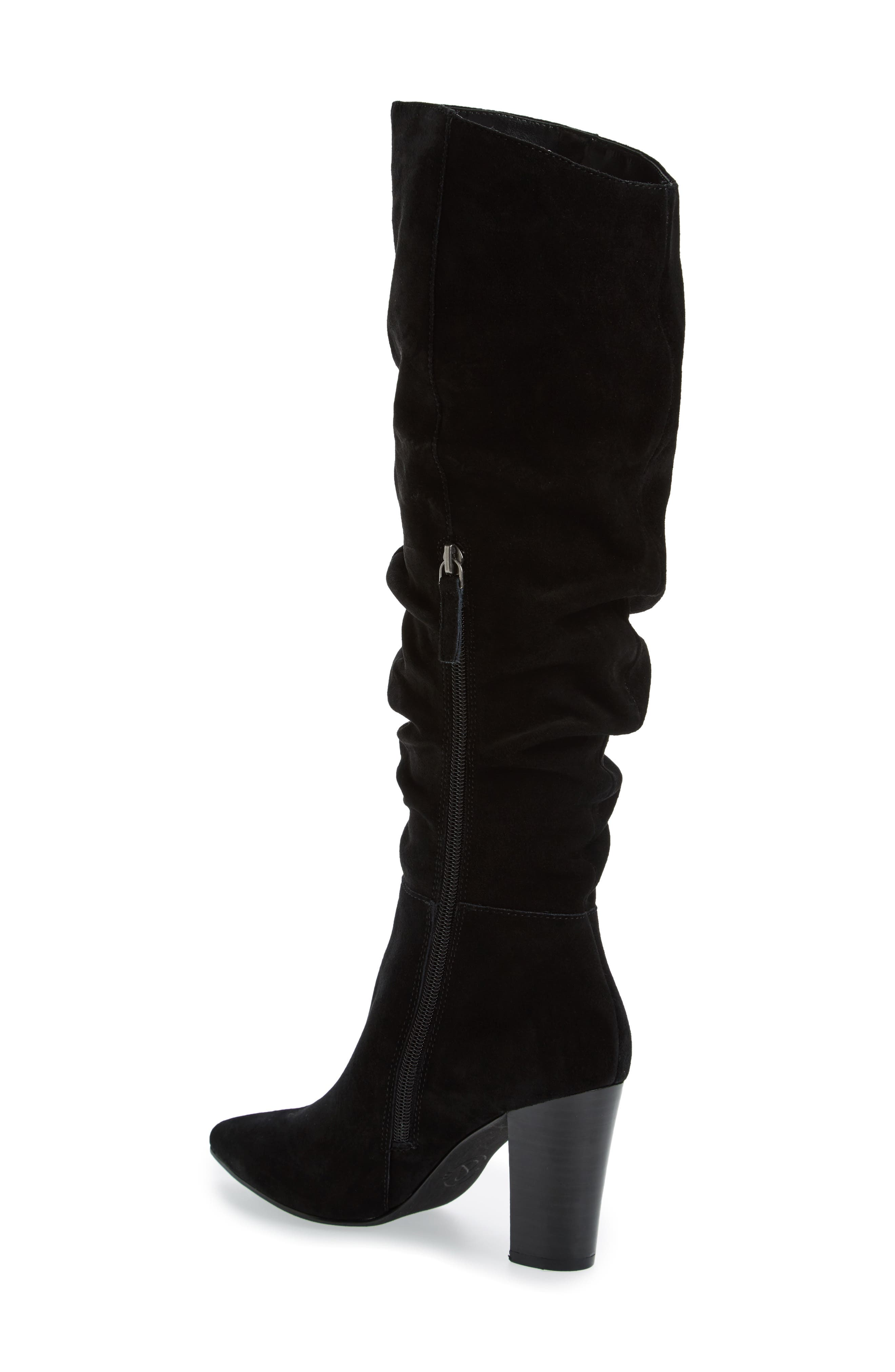x Something Navy Aiden Knee High Boot,                             Alternate thumbnail 2, color,                             001