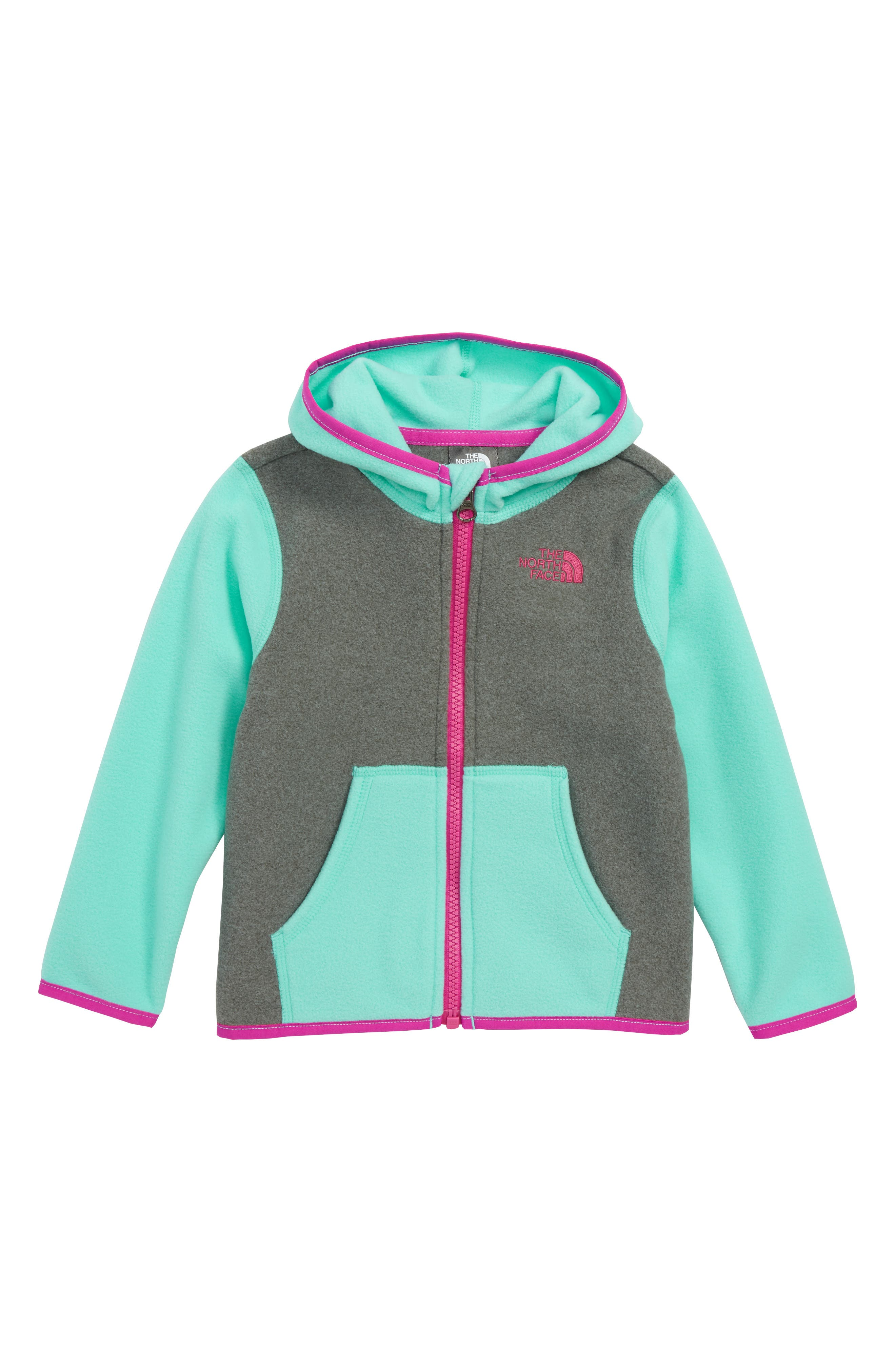 THE NORTH FACE,                             Glacier Full Zip Hoodie,                             Main thumbnail 1, color,                             439