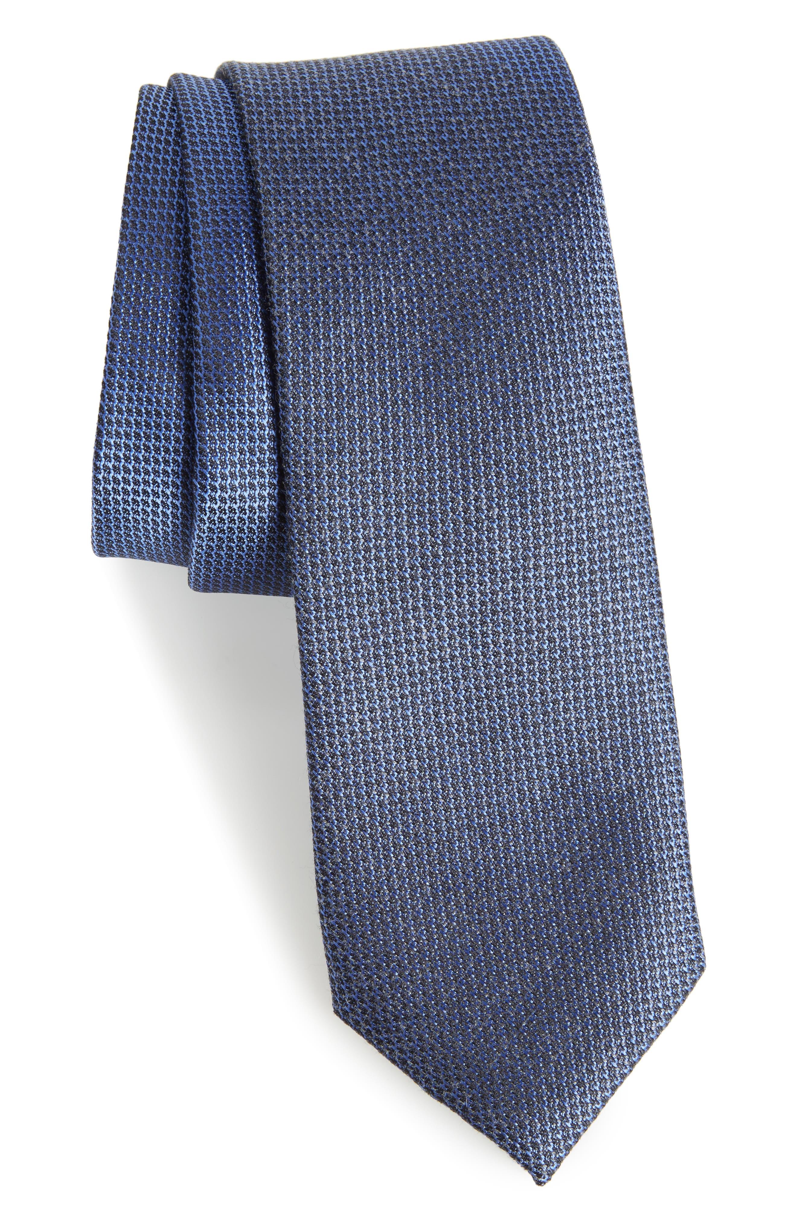Kenton Textured Silk Blend Skinny Tie,                             Main thumbnail 3, color,