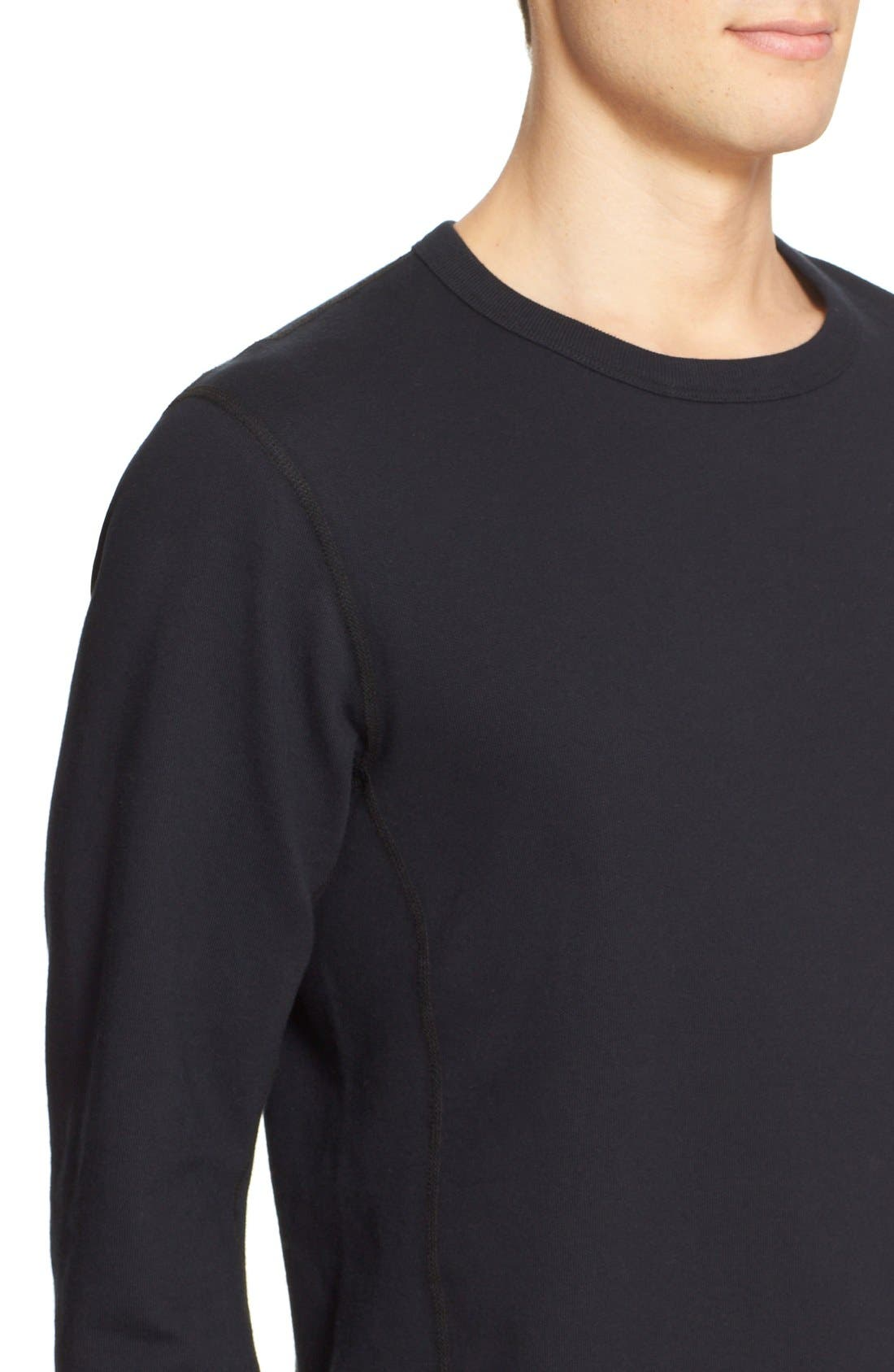 French Terry Sweatshirt,                             Alternate thumbnail 4, color,                             001