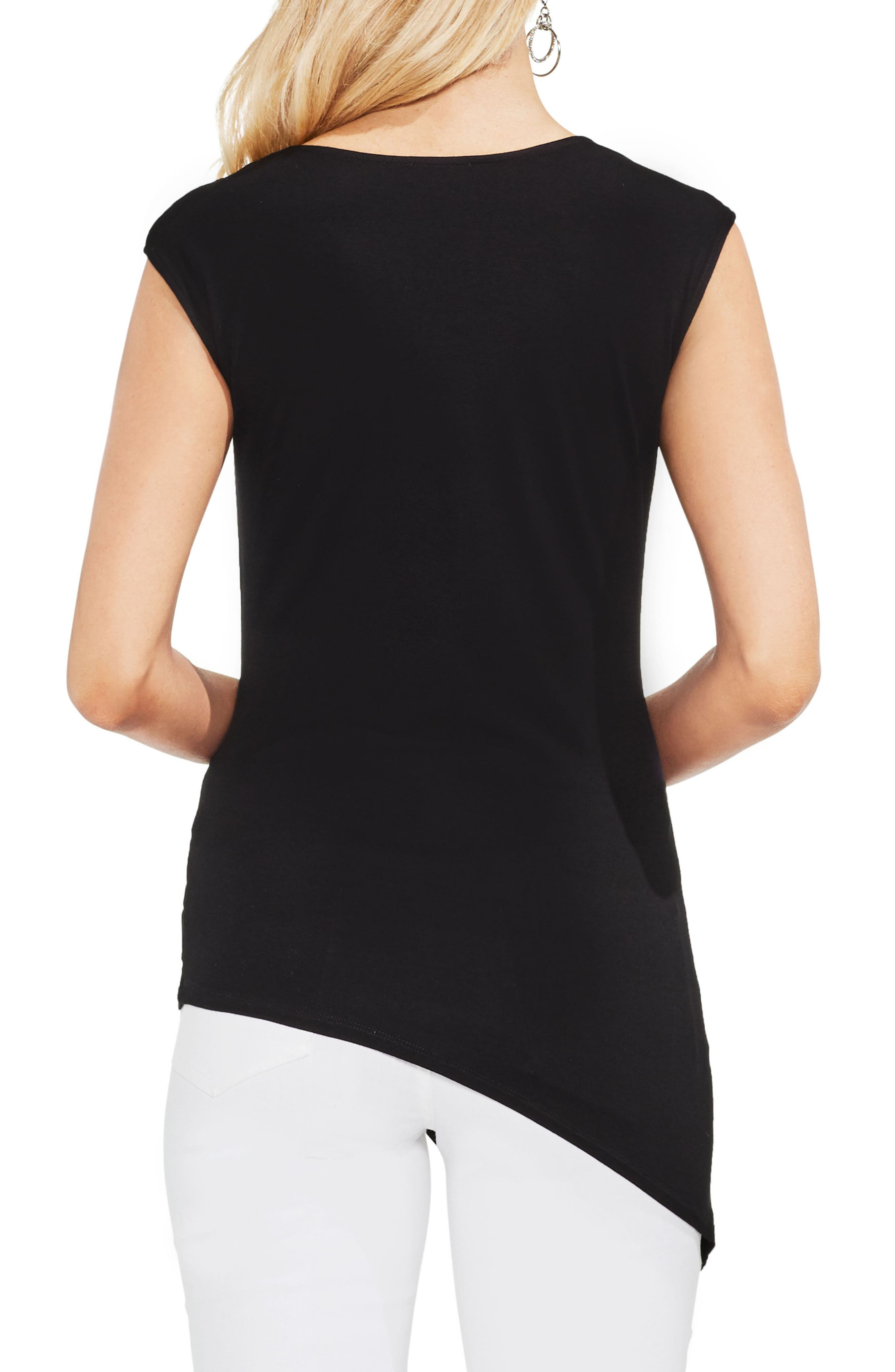 Twist Front Stretch Jersey Top,                             Alternate thumbnail 3, color,