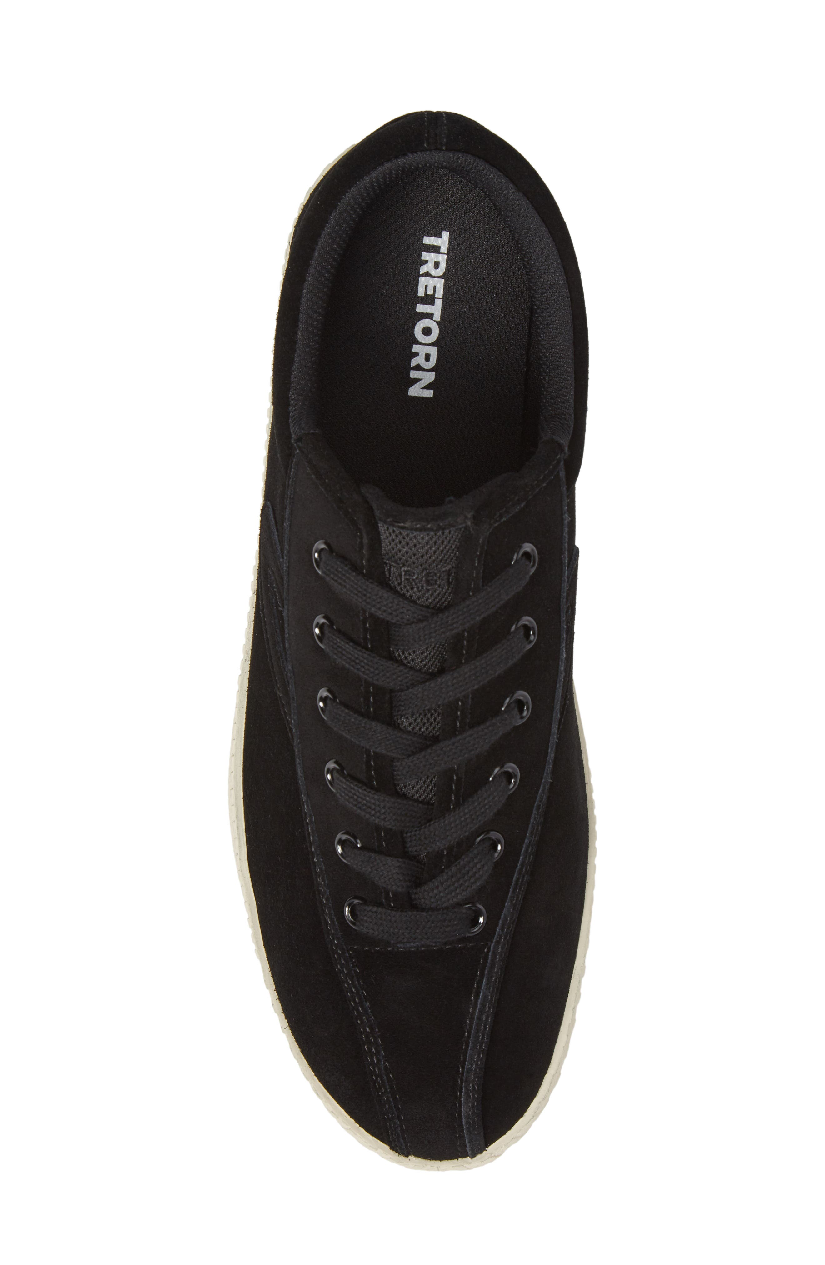 Nylite 16 Sneaker,                             Alternate thumbnail 5, color,                             BLACK/ BLACK SUEDE