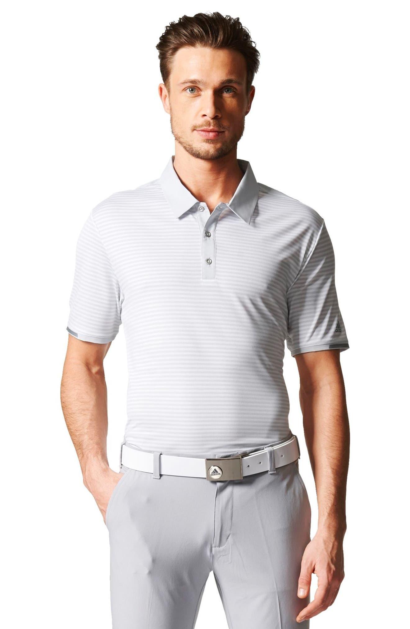 climachill<sup>®</sup> Stripe Golf Polo,                             Alternate thumbnail 6, color,                             065
