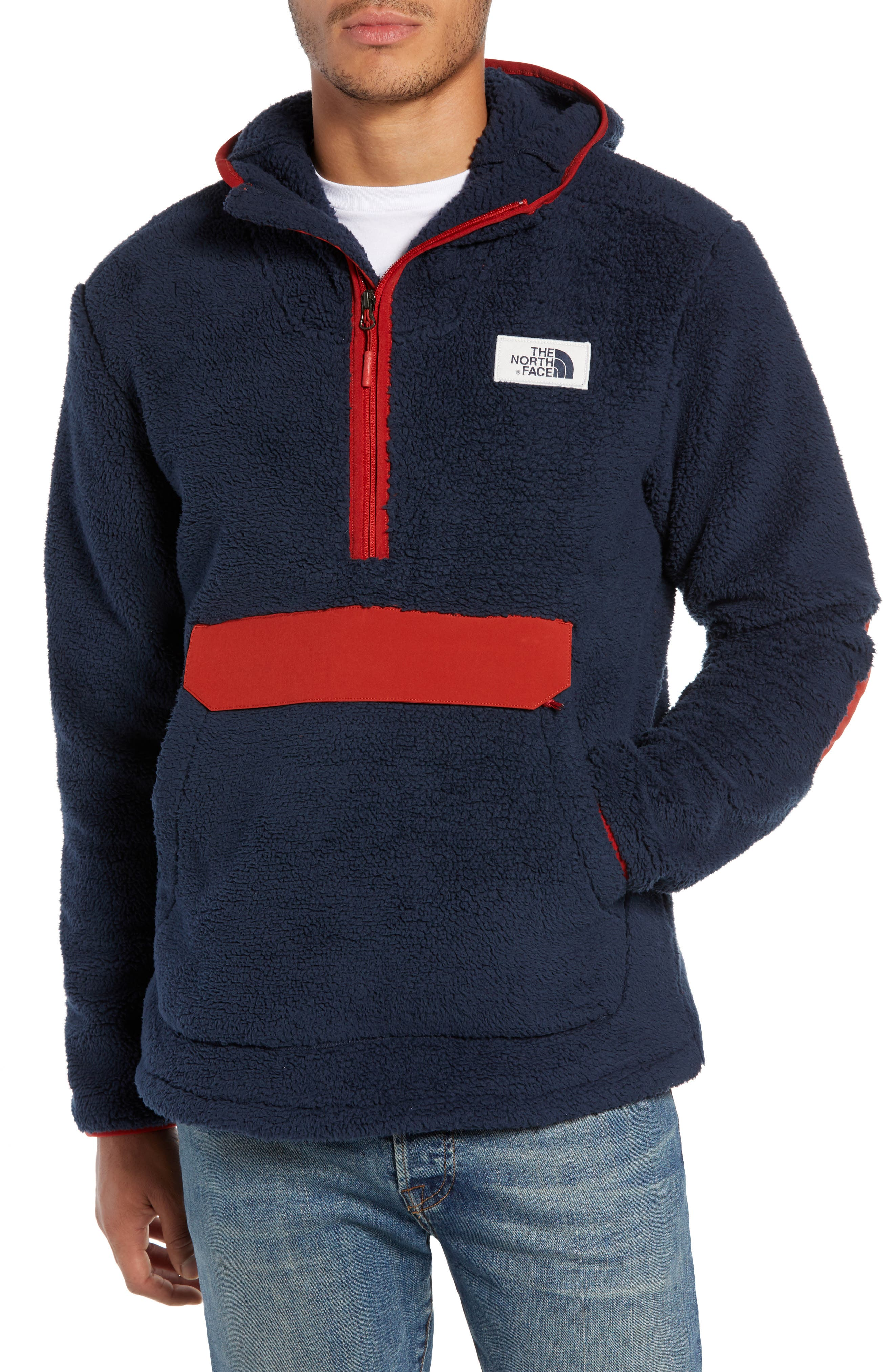 The North Face Campshire Anorak Fleece Jacket, Blue