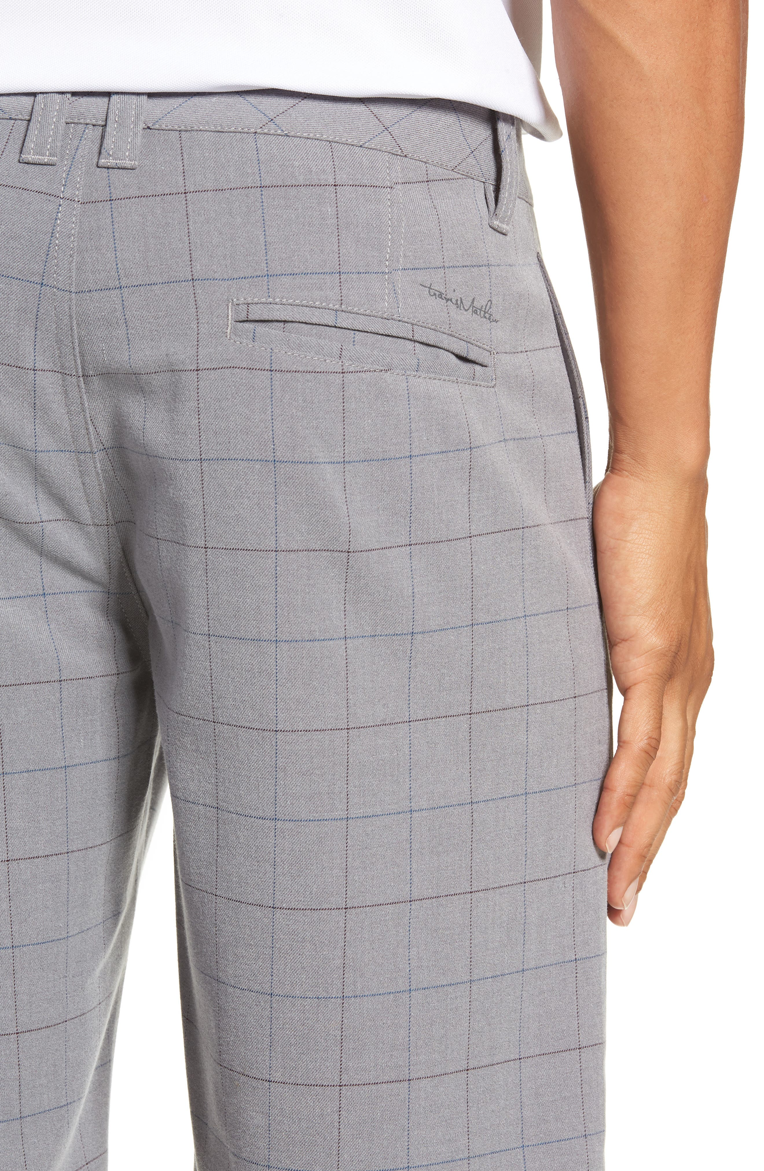 Rickles Regular Fit Shorts,                             Alternate thumbnail 4, color,                             HEATHER SHARKSKIN