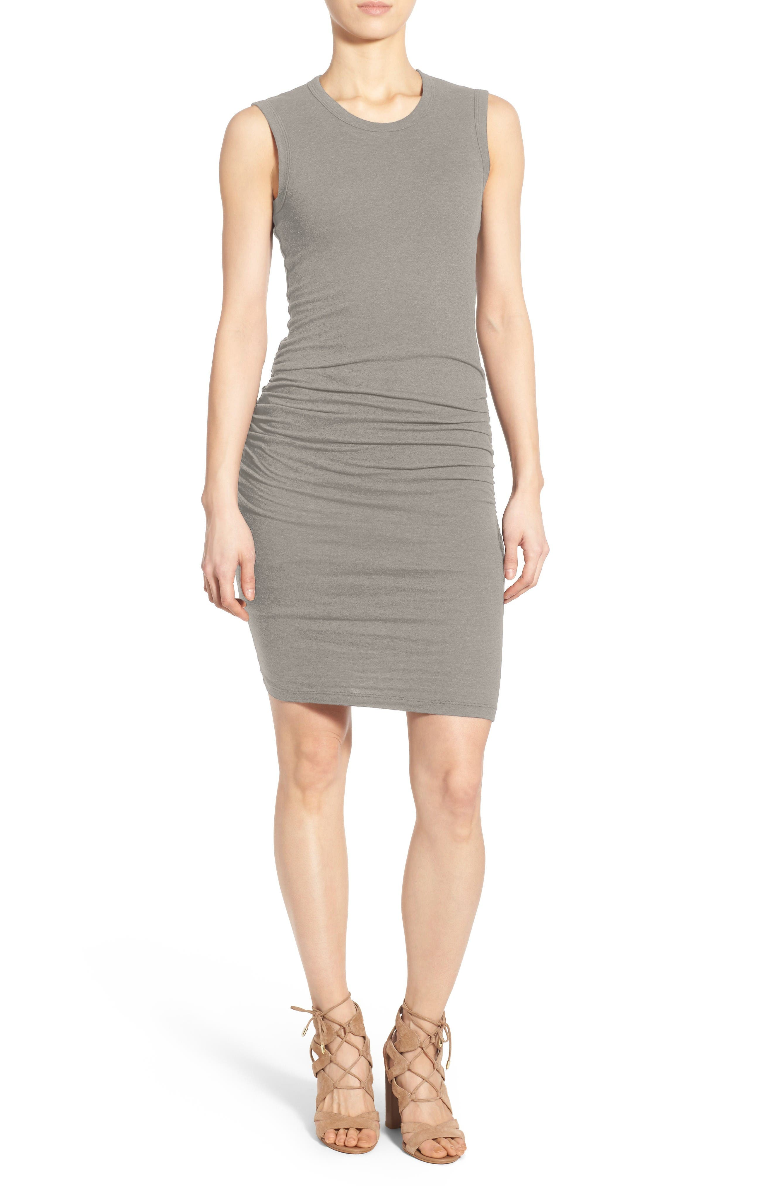 Ruched Tank Dress,                         Main,                         color, 085