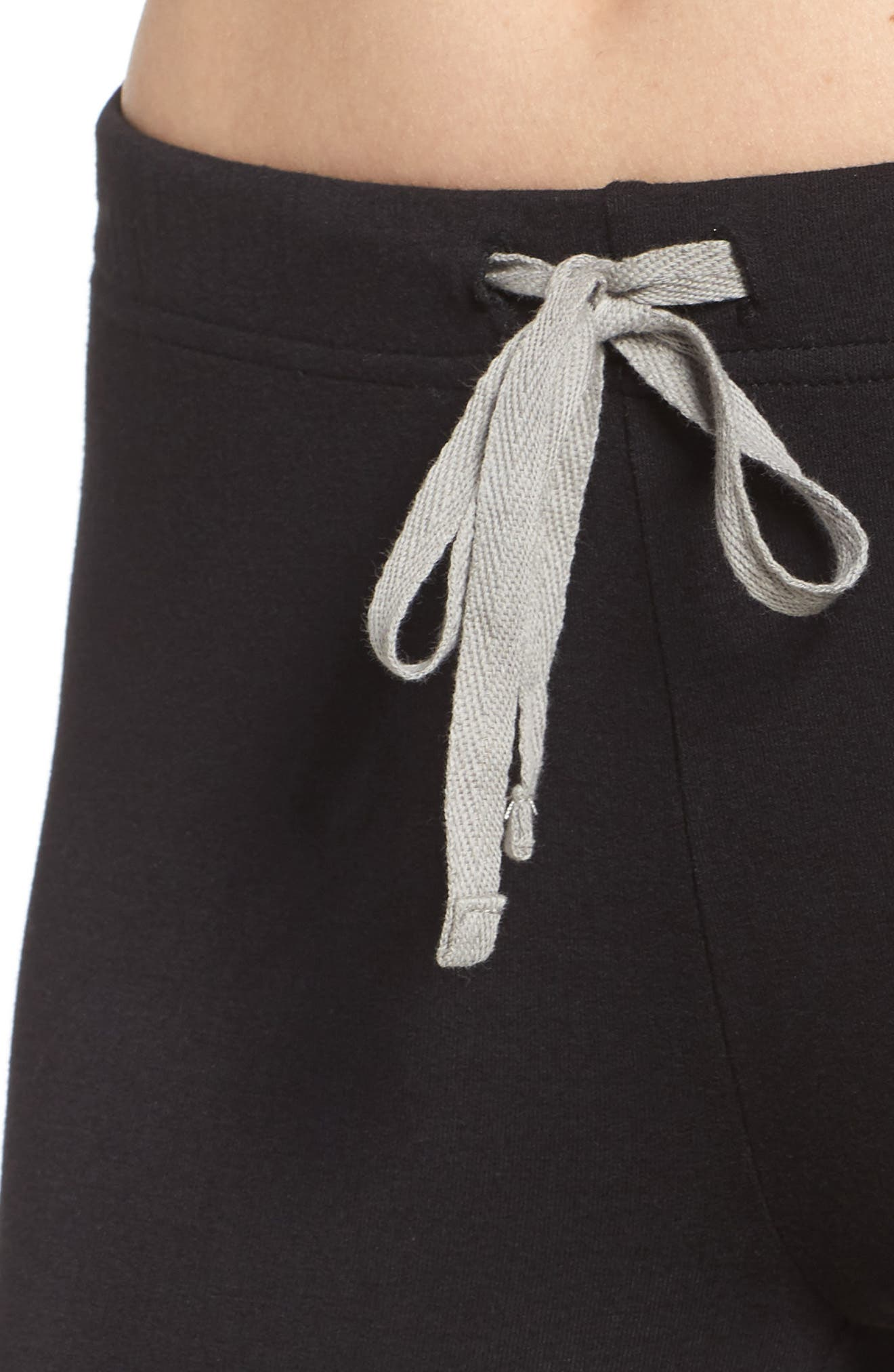 Kickin' It French Terry Lounge Pants,                             Alternate thumbnail 4, color,                             BLACK