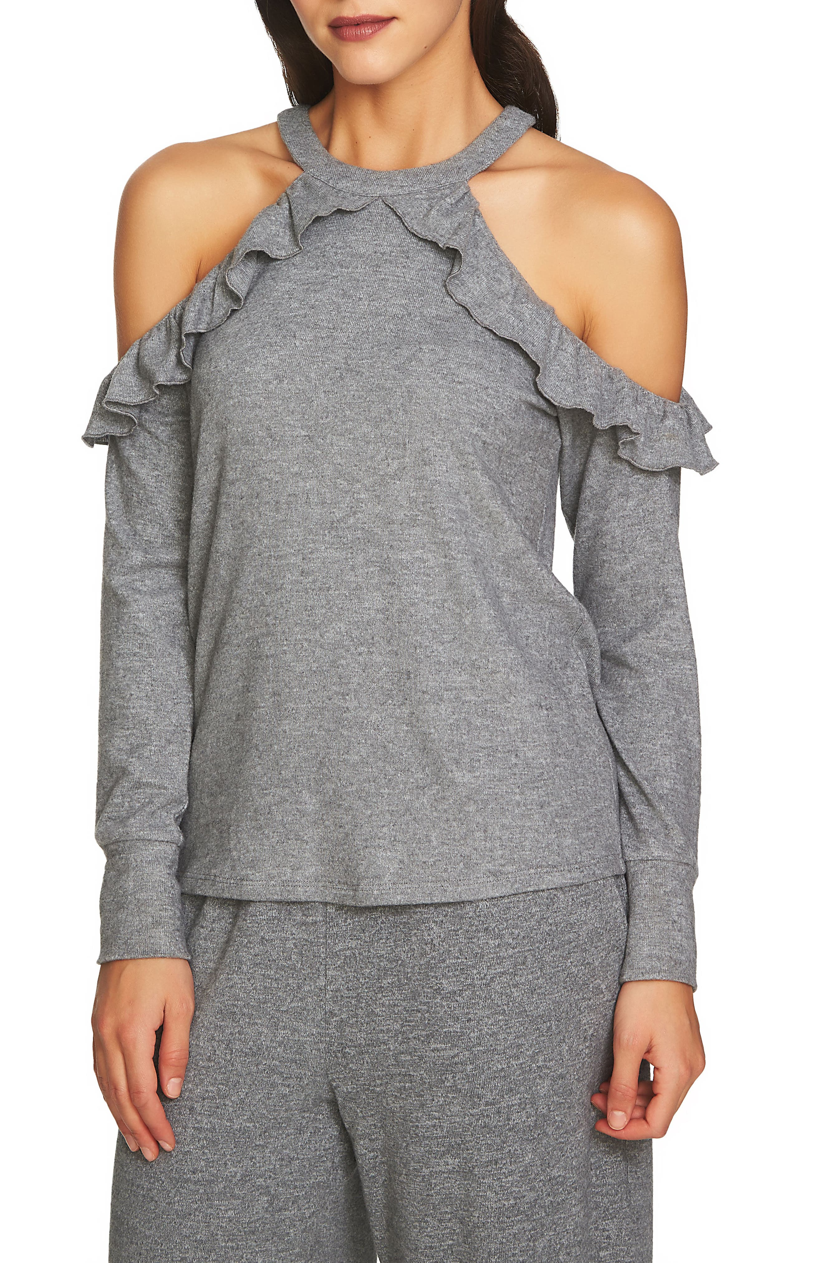 The Cozy Cold Shoulder Knit Top,                             Main thumbnail 2, color,