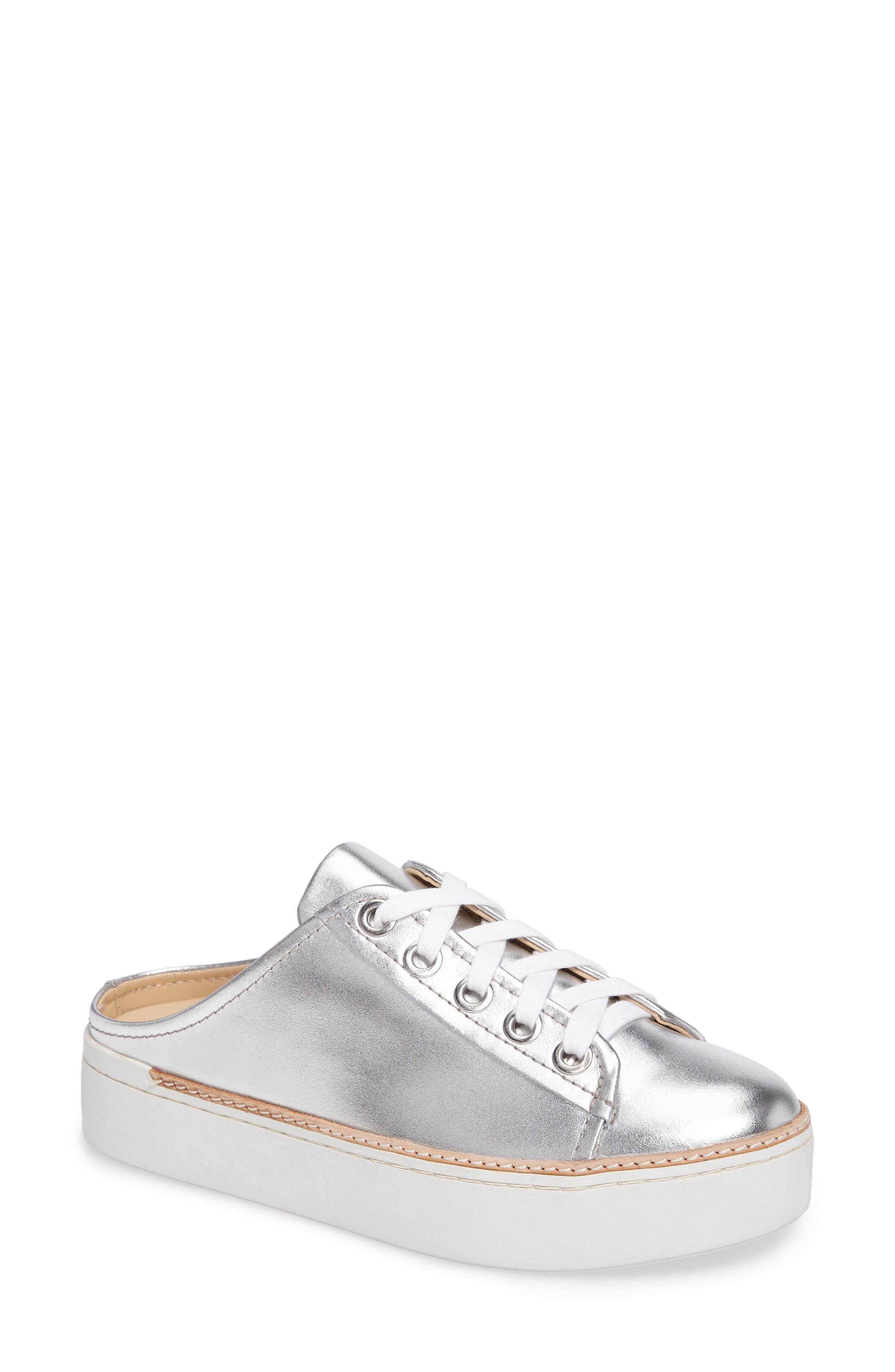 M4D3,                             Platform Mule Sneaker,                             Main thumbnail 1, color,                             SILVER