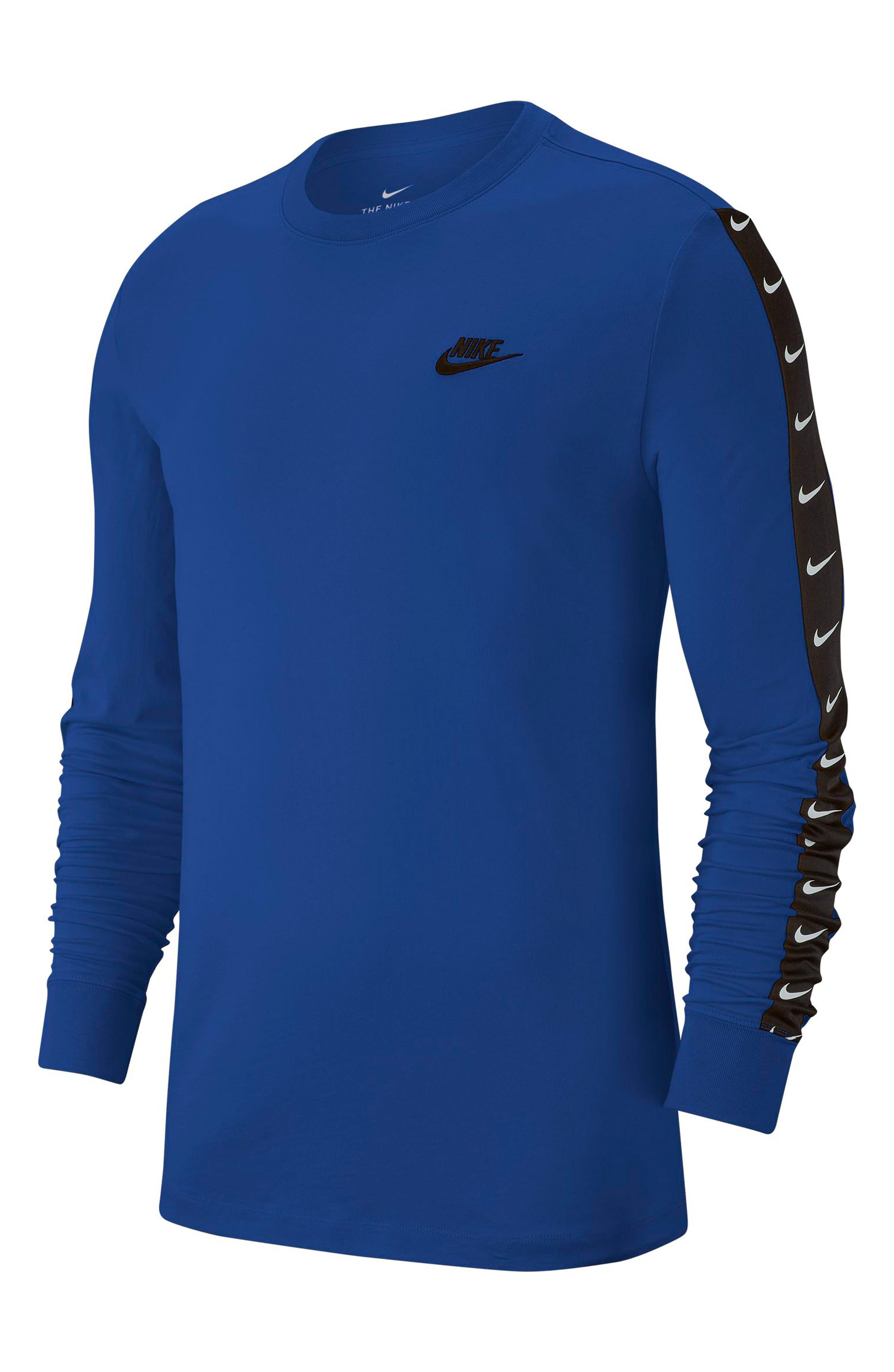 Nike Nsw Swoosh Logo Long Sleeve T-Shirt Blue