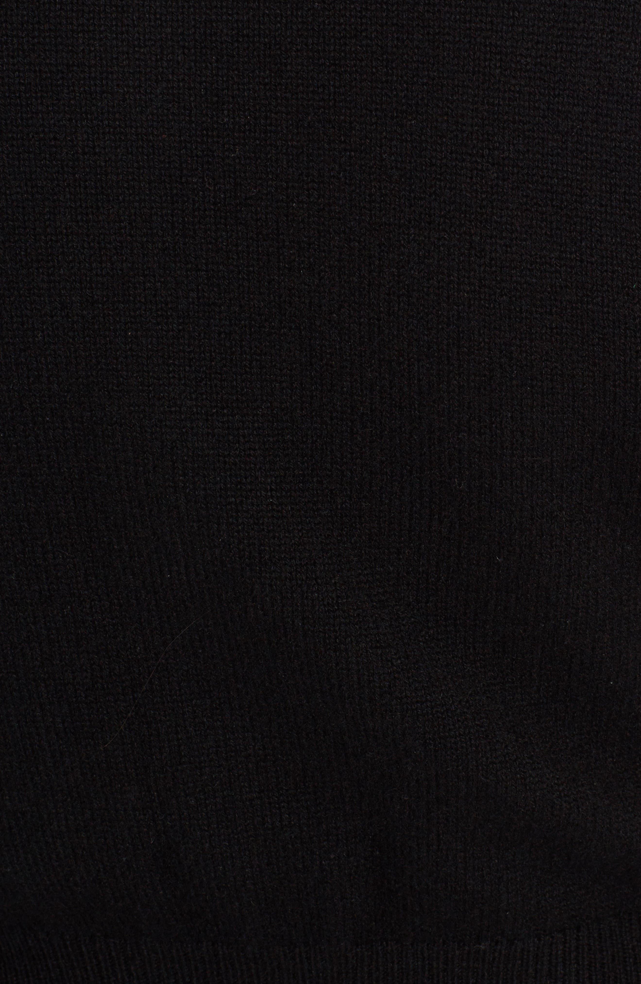 Leo Button Cashmere Cardigan,                             Alternate thumbnail 5, color,                             010