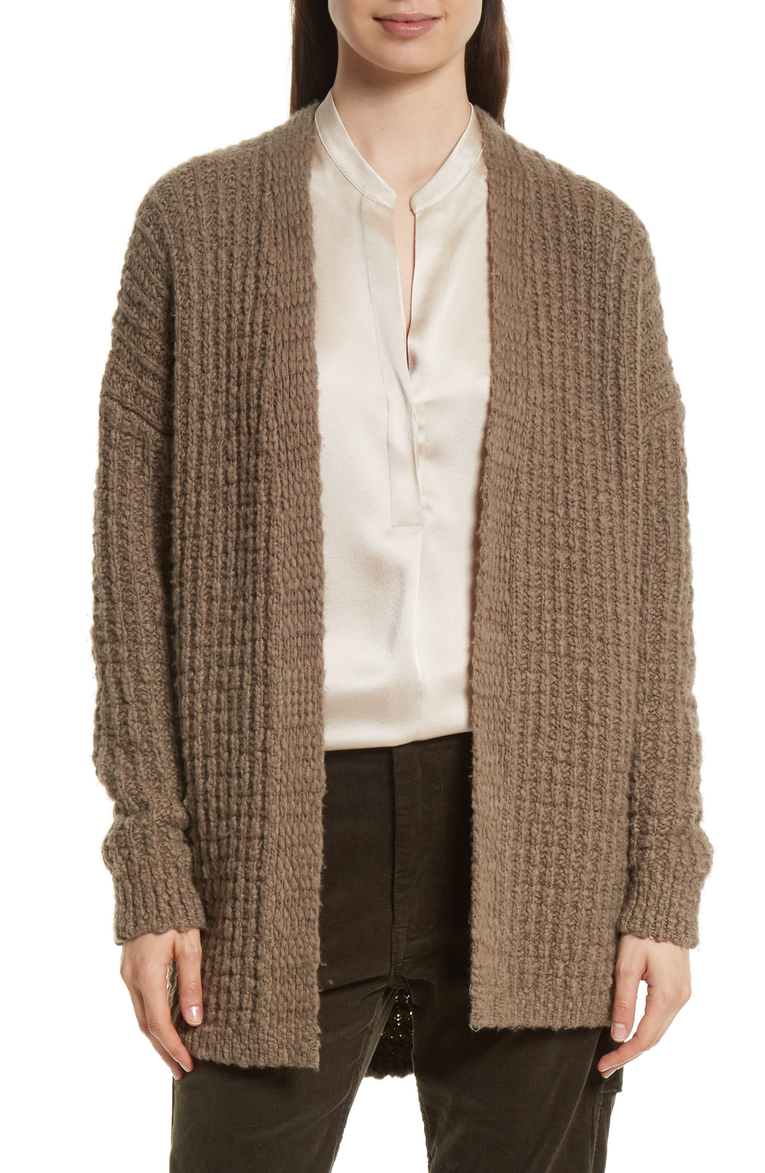 Waffle Stitch Cardigan,                             Main thumbnail 1, color,                             206