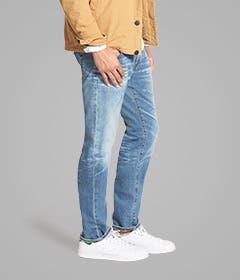 Slim-straight jeans for men.