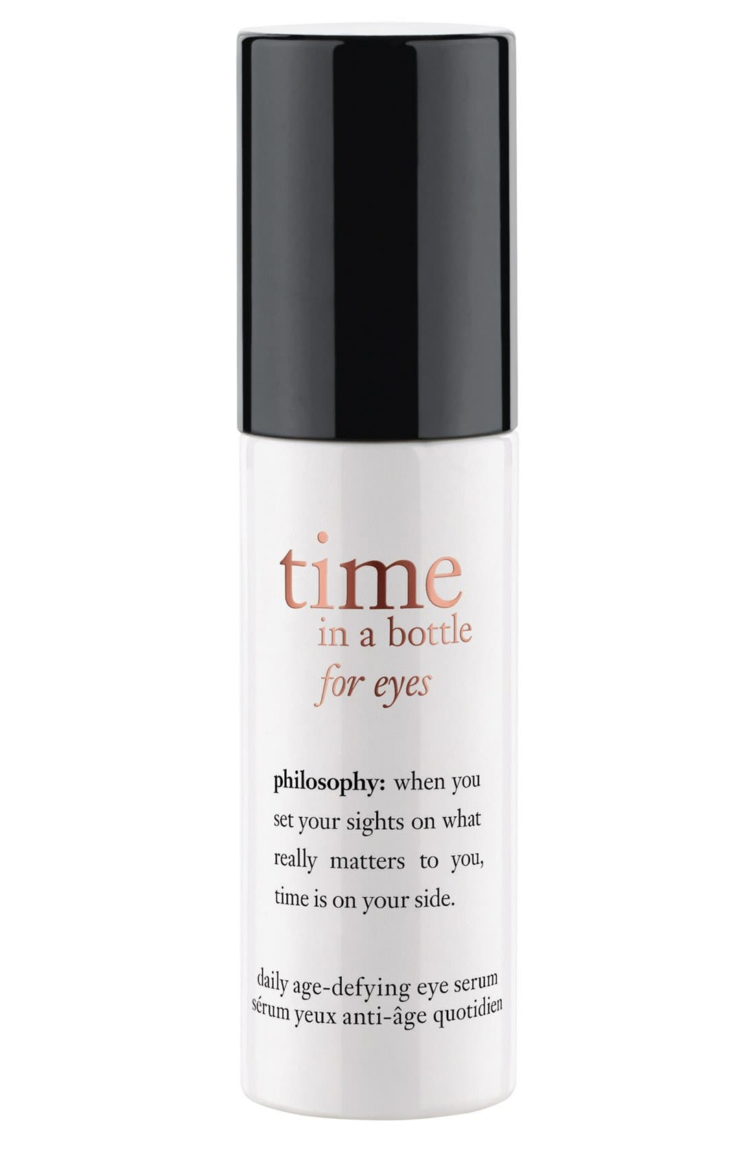 'time in a bottle for eyes' daily age-defying eye serum,                             Main thumbnail 1, color,                             000