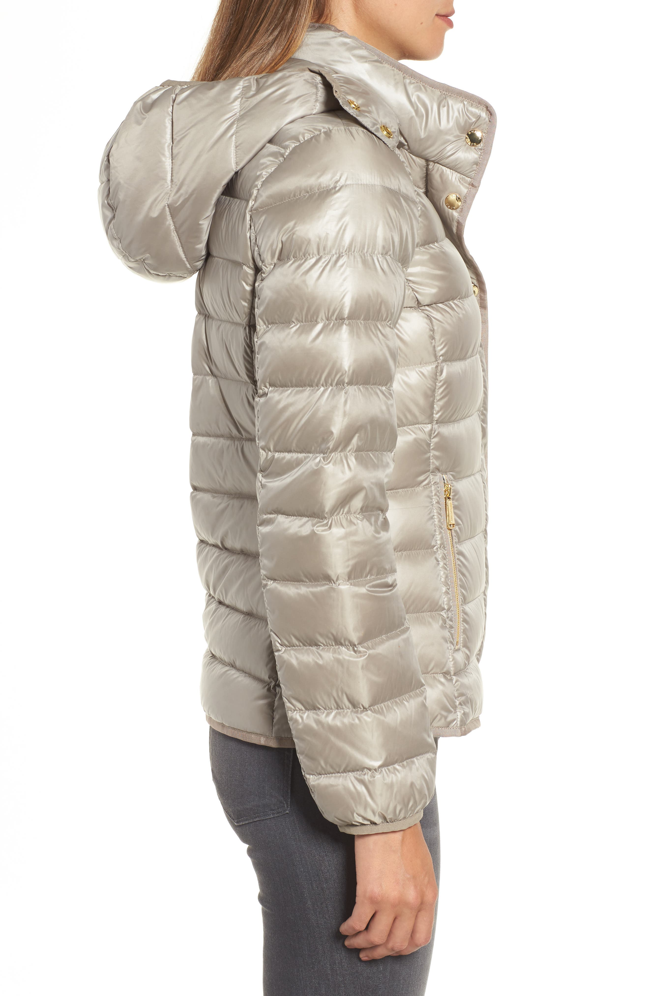 Packable Insulated Jacket with Removable Hood,                             Alternate thumbnail 10, color,