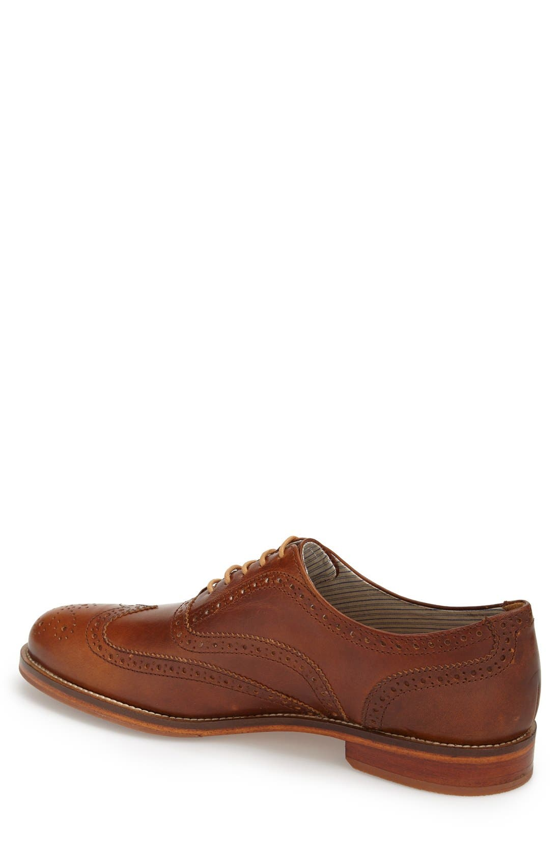 Charlie Plus Wingtip Oxford,                             Alternate thumbnail 2, color,                             BRASS LEATHER