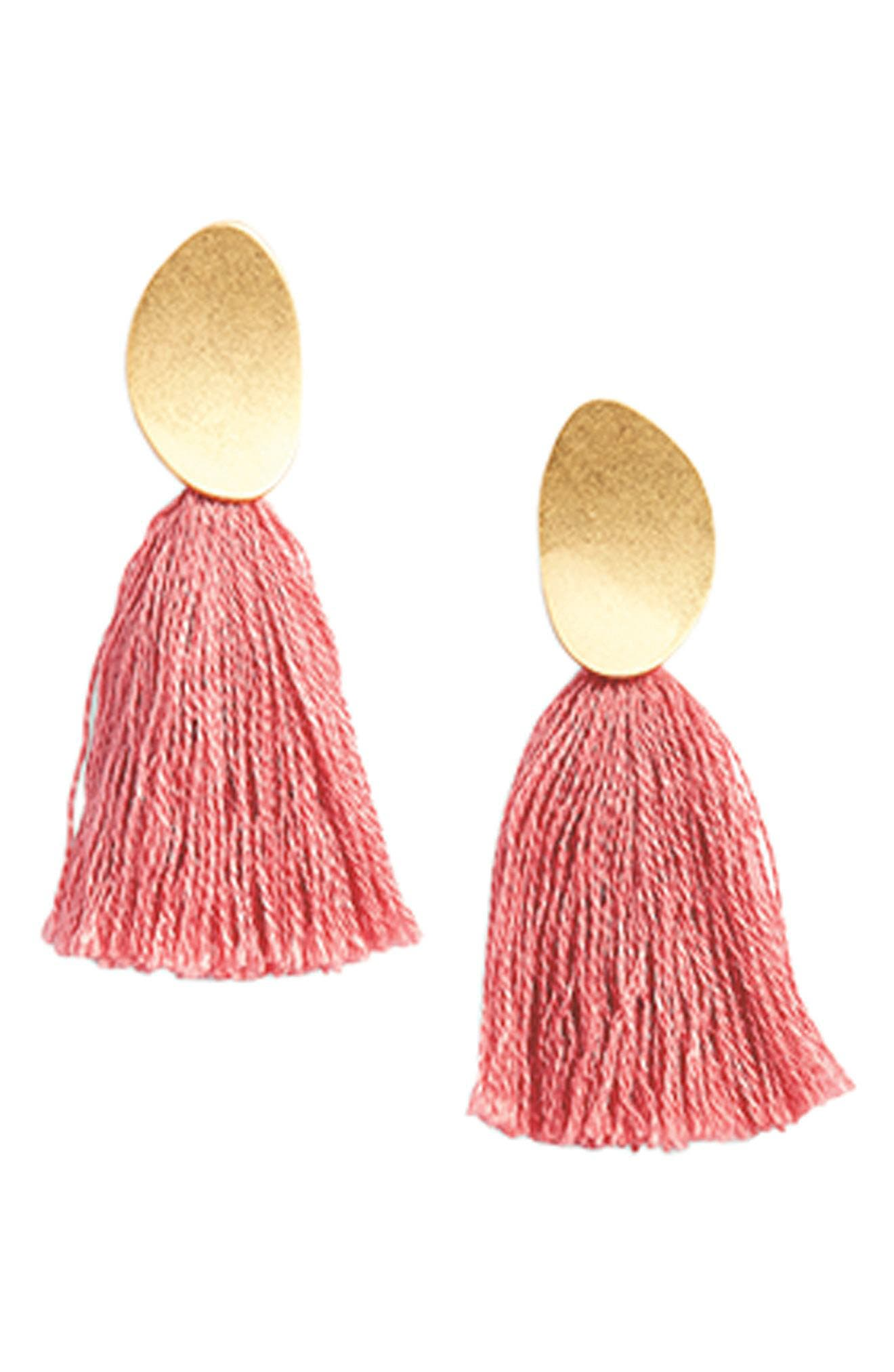 Curved Tassel Earrings,                             Alternate thumbnail 3, color,                             320