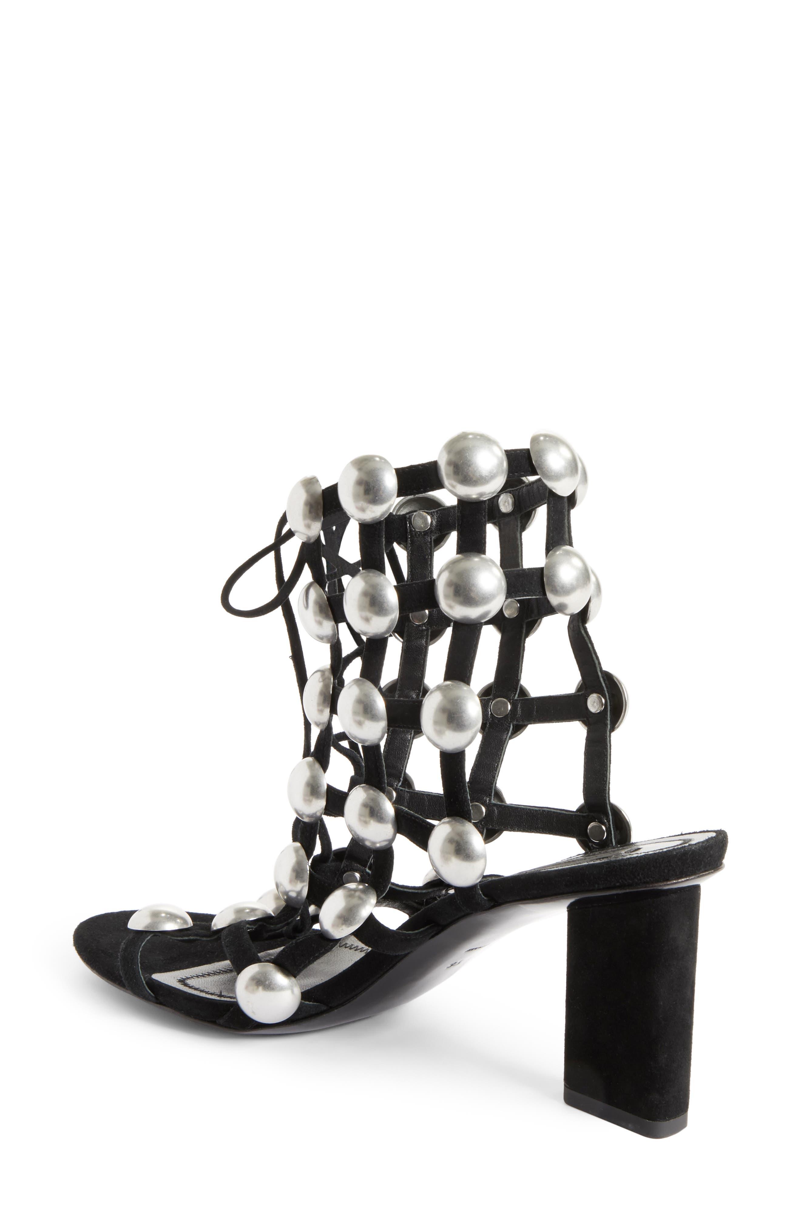 Rainey Studded Sandal,                             Alternate thumbnail 2, color,                             001