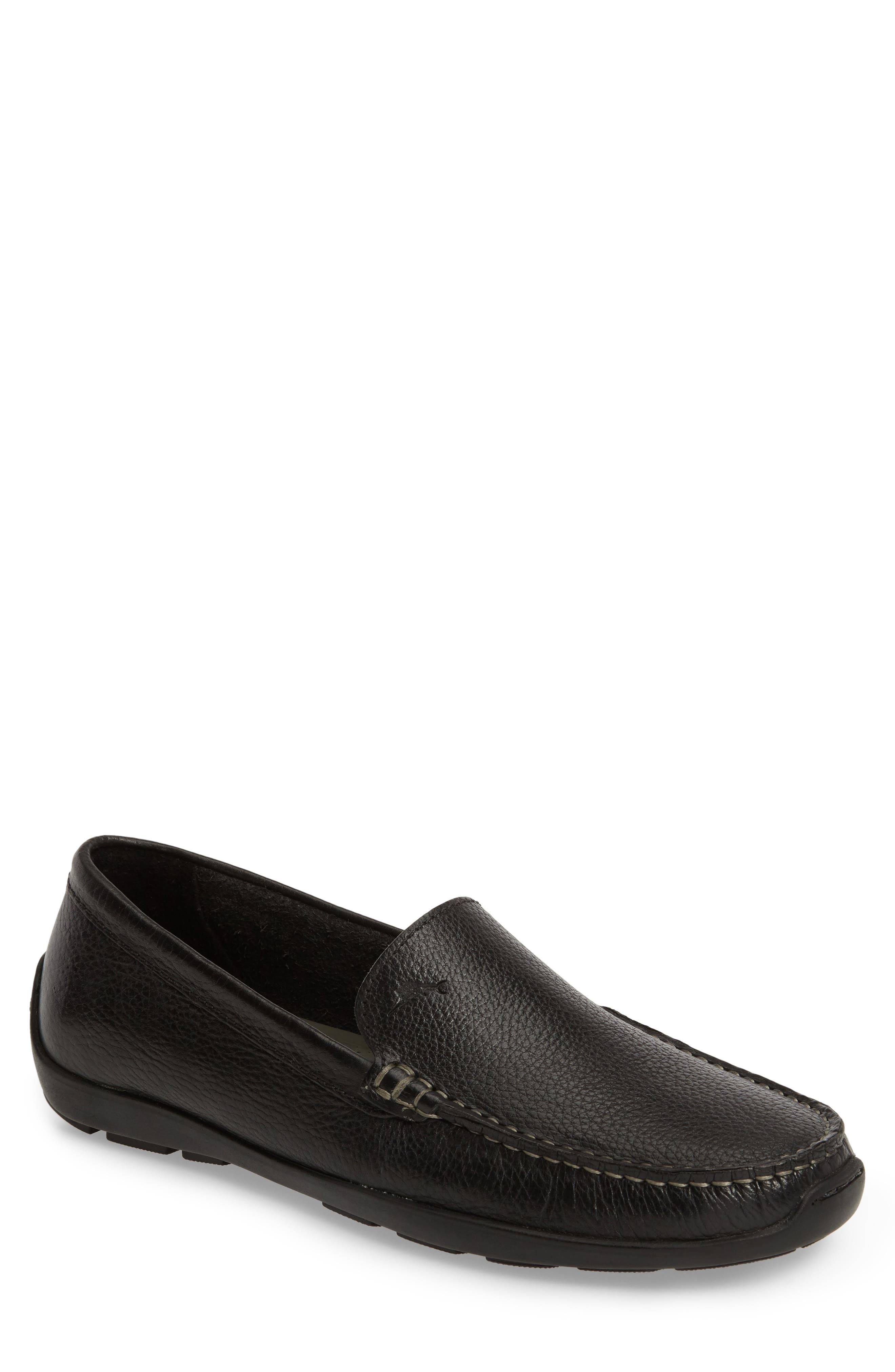 Orion Venetian Loafer,                         Main,                         color, BLACK LEATHER