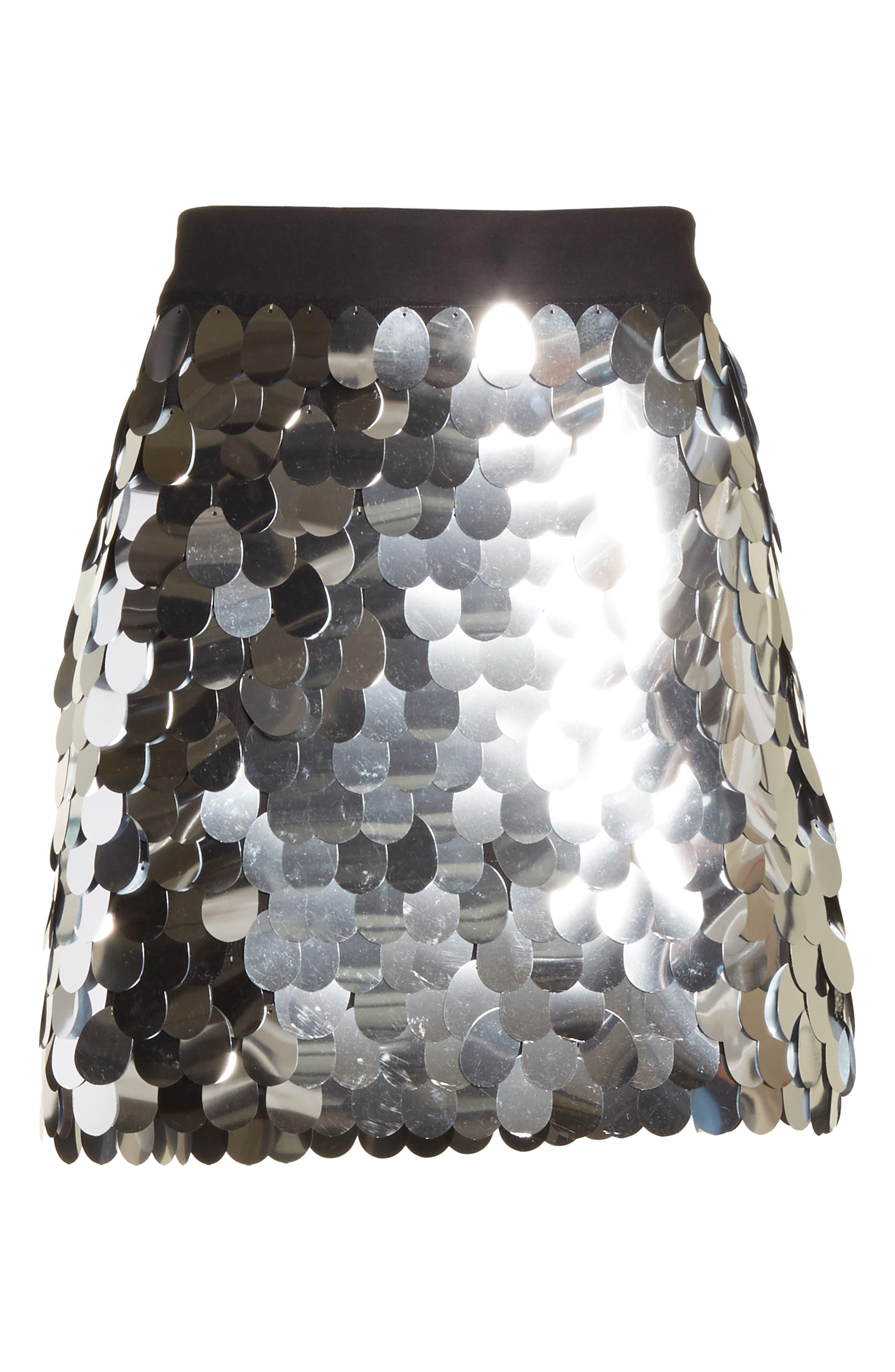 Paillette Sequin Miniskirt,                             Alternate thumbnail 6, color,