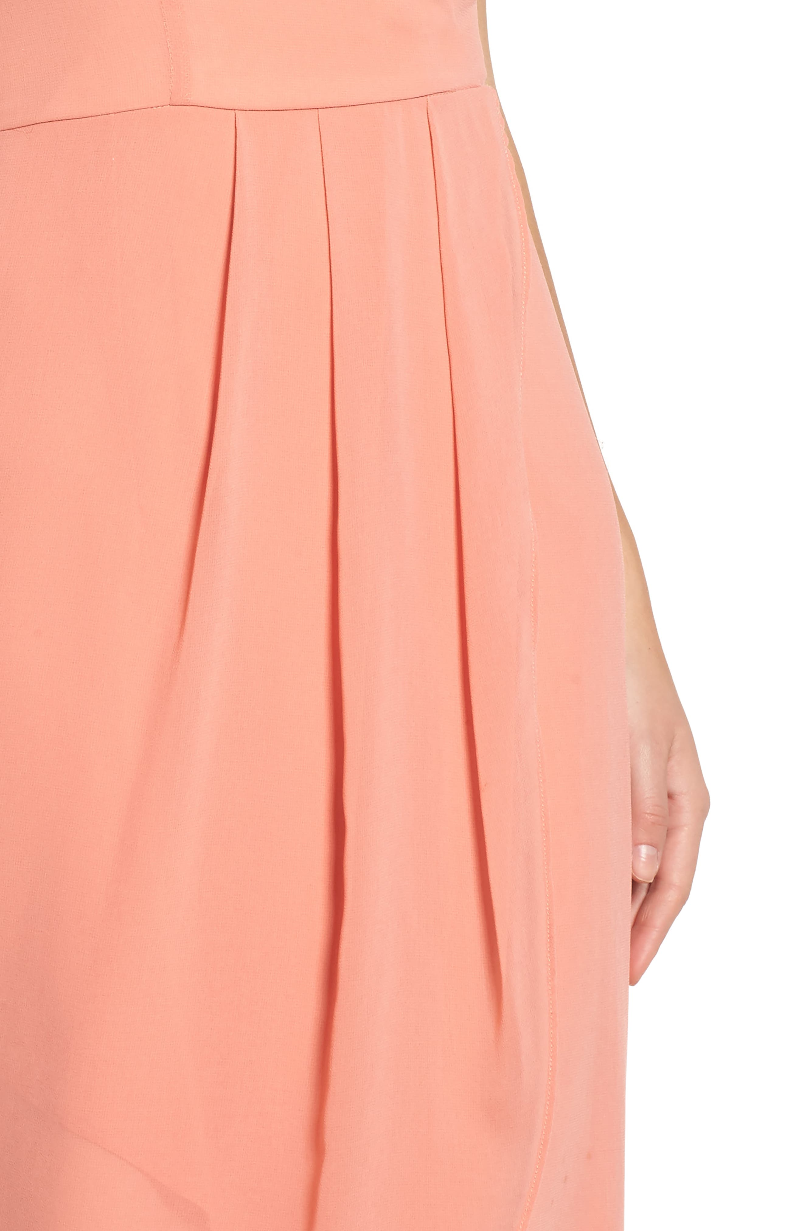 Flame of the Forest Midi Dress,                             Alternate thumbnail 4, color,                             680