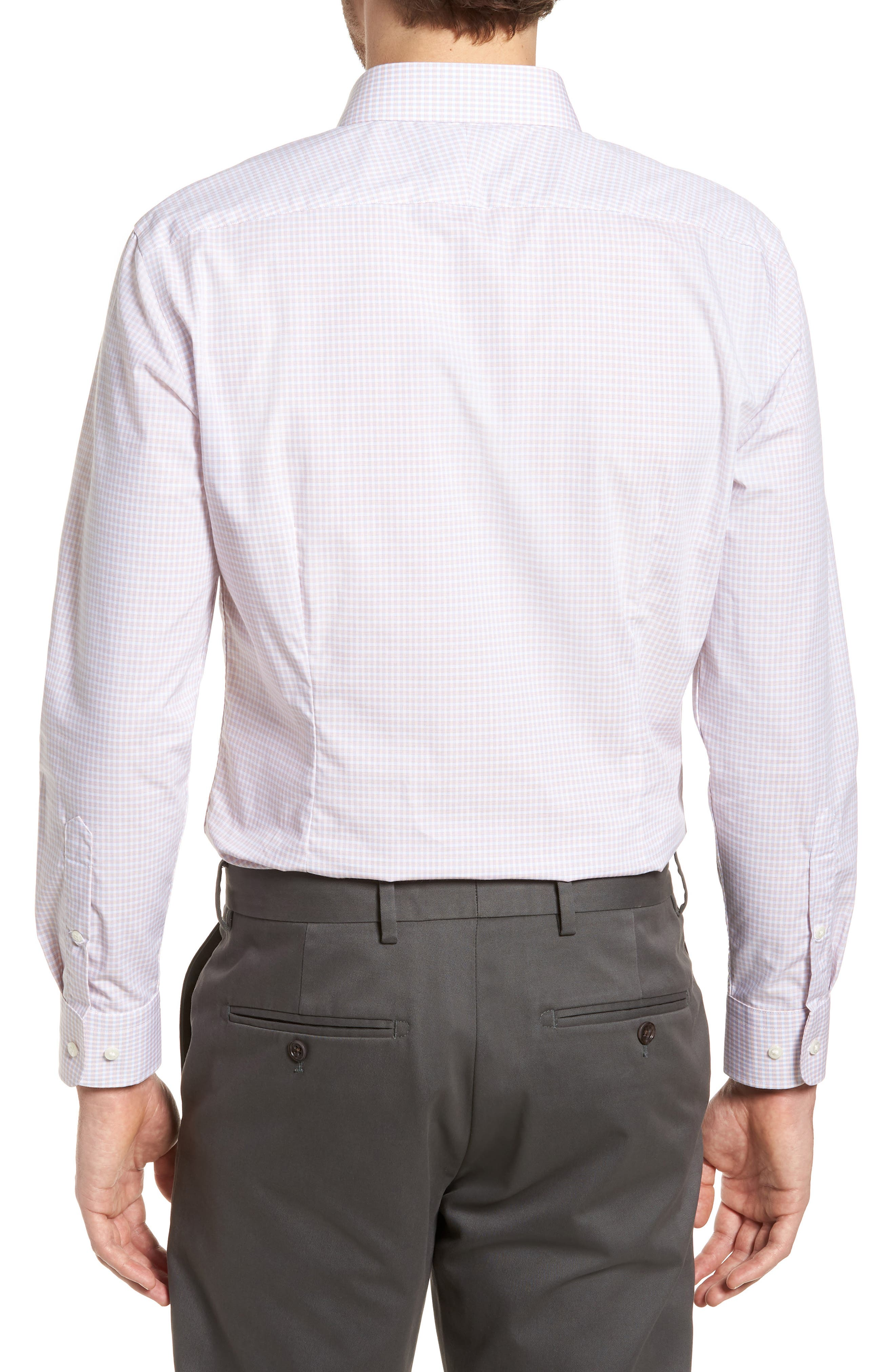 Extra Trim Fit Non-Iron Check Dress Shirt,                             Alternate thumbnail 9, color,