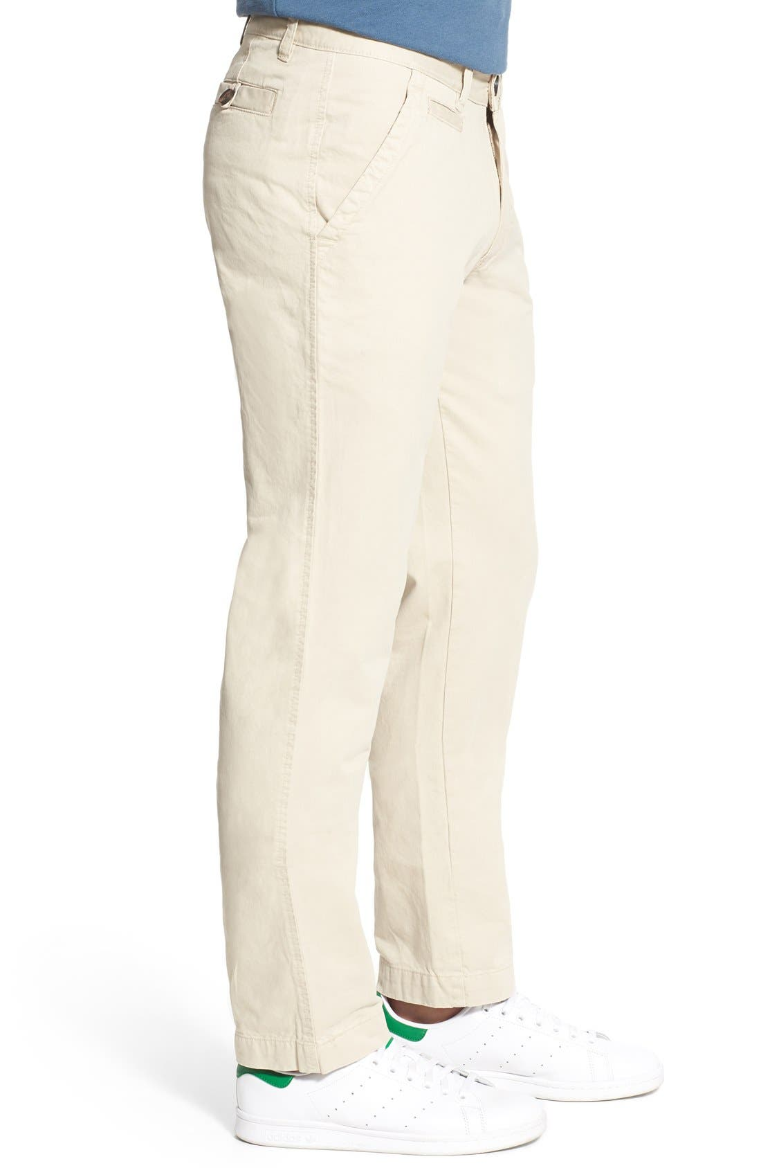 'Sahara' Trim Fit Vintage Washed Twill Chinos,                             Alternate thumbnail 3, color,                             270