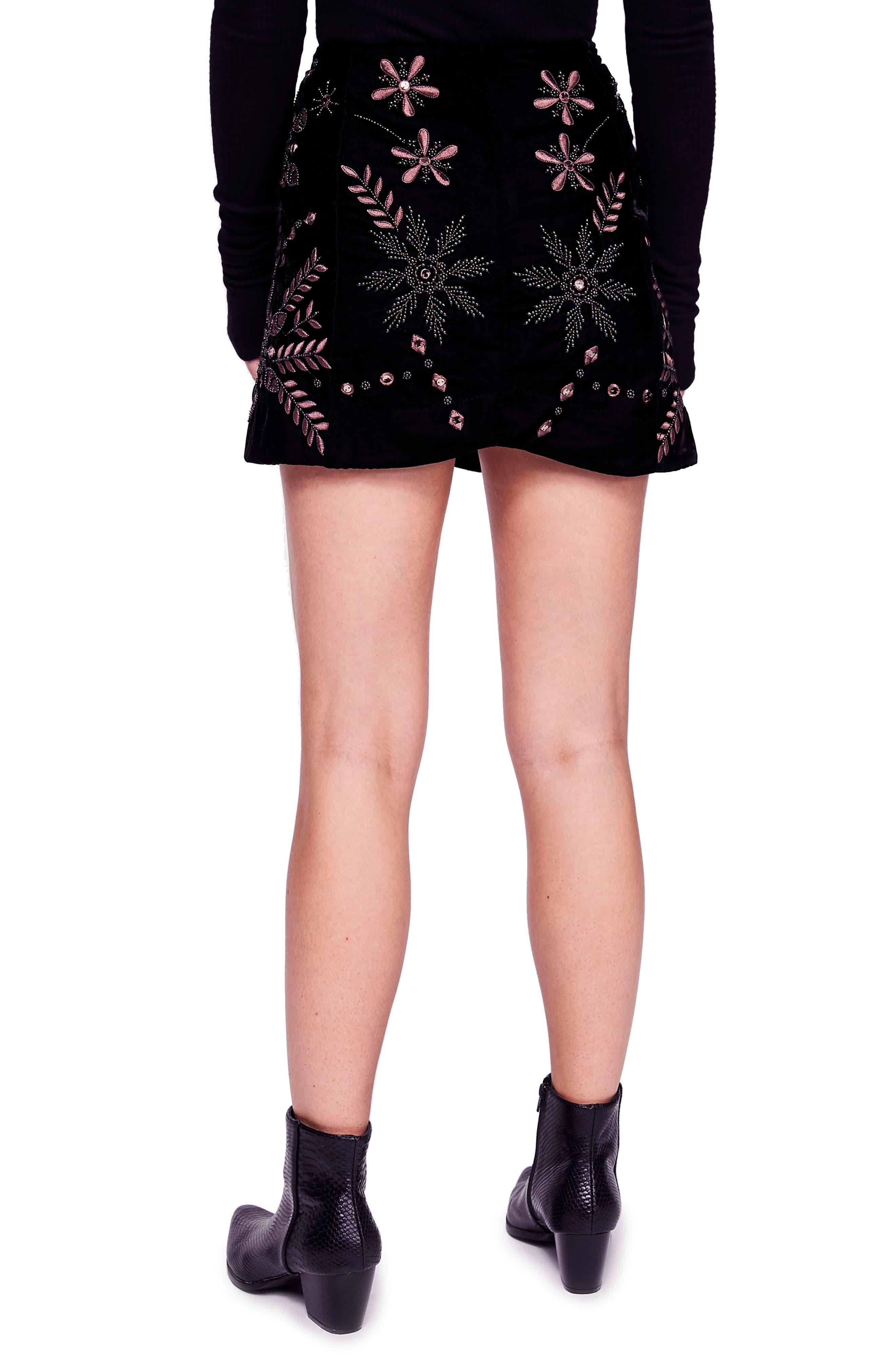 Bright Lights Miniskirt,                             Alternate thumbnail 2, color,                             BLACK