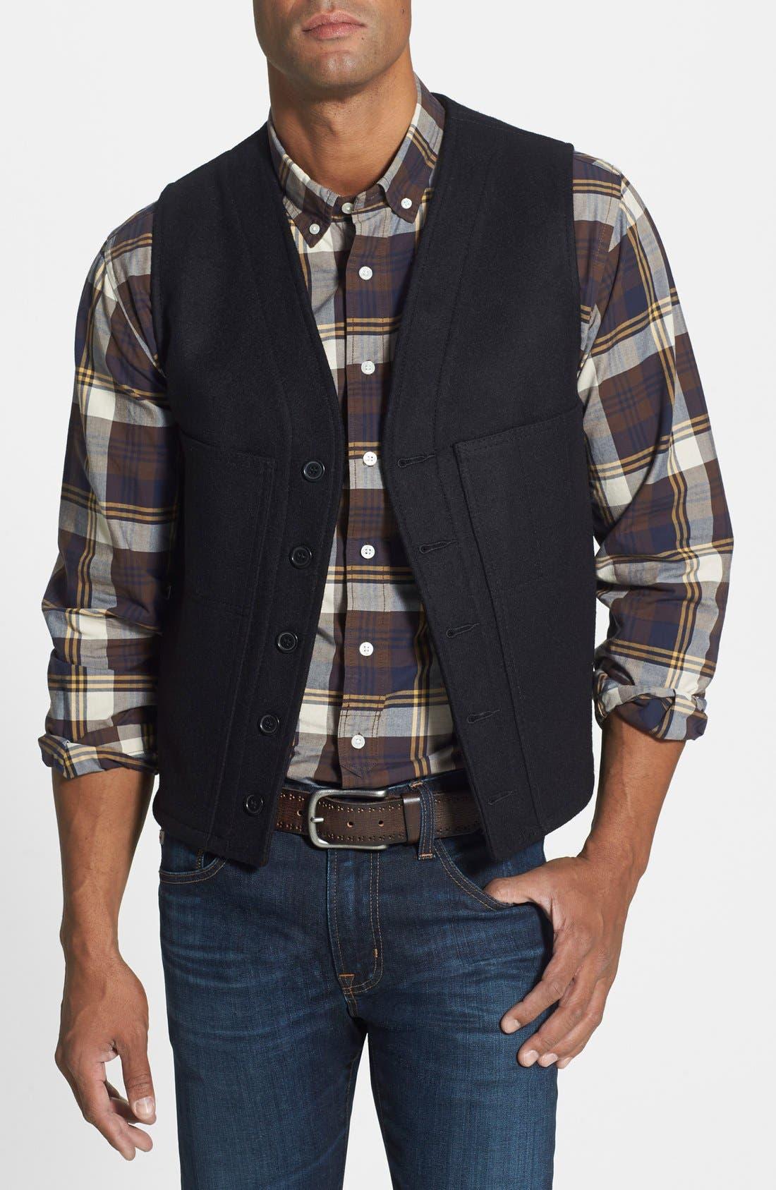 FILSON 'Mackinaw' Wool Vest, Main, color, 001