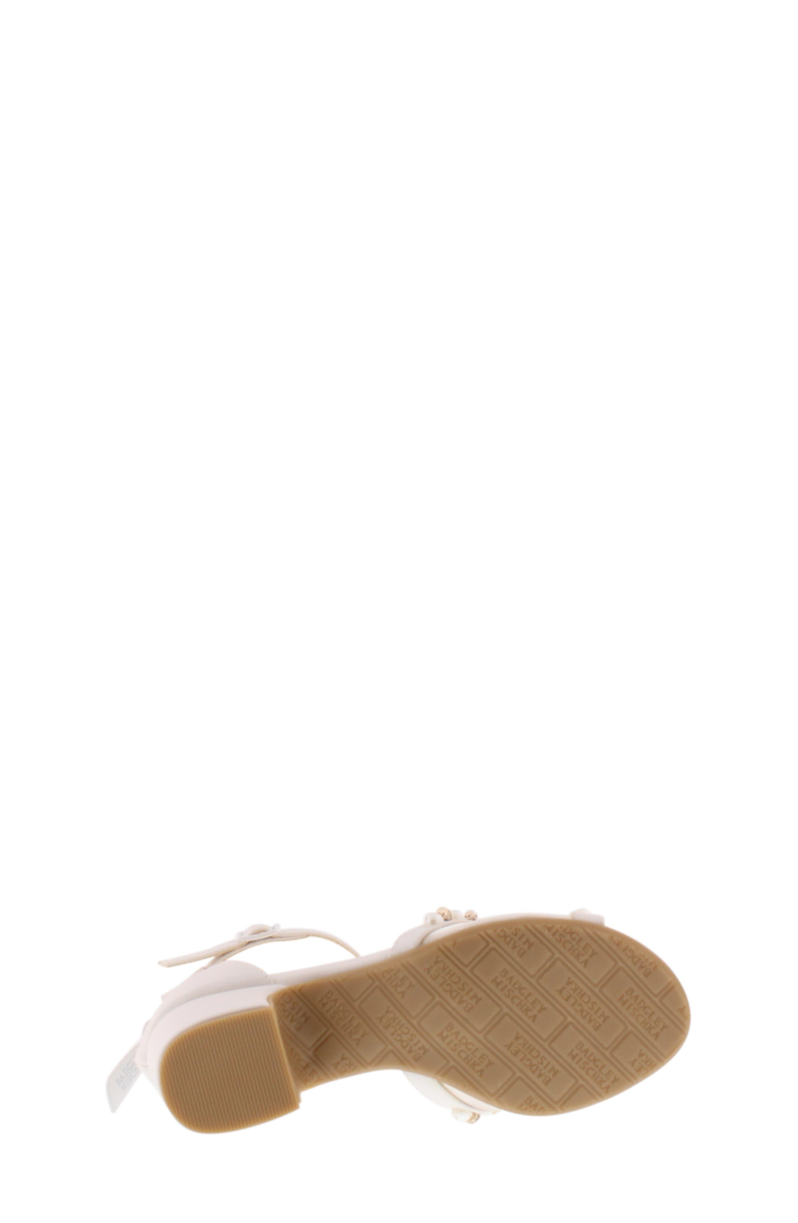 BADGLEY MISCHKA COLLECTION,                             Badgley Mischka Pernia Emily Embellished Sandal,                             Alternate thumbnail 5, color,                             WHITE SHIMMER
