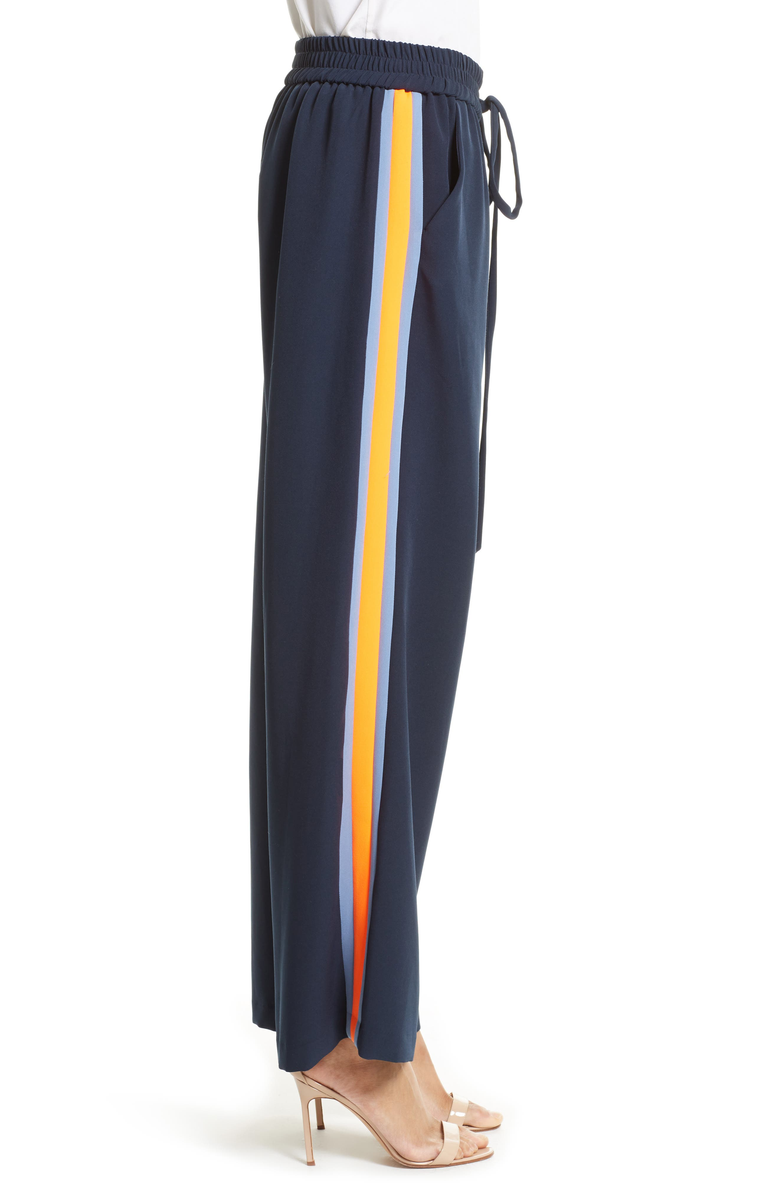 Italian Cady Track Pants,                             Alternate thumbnail 3, color,                             410
