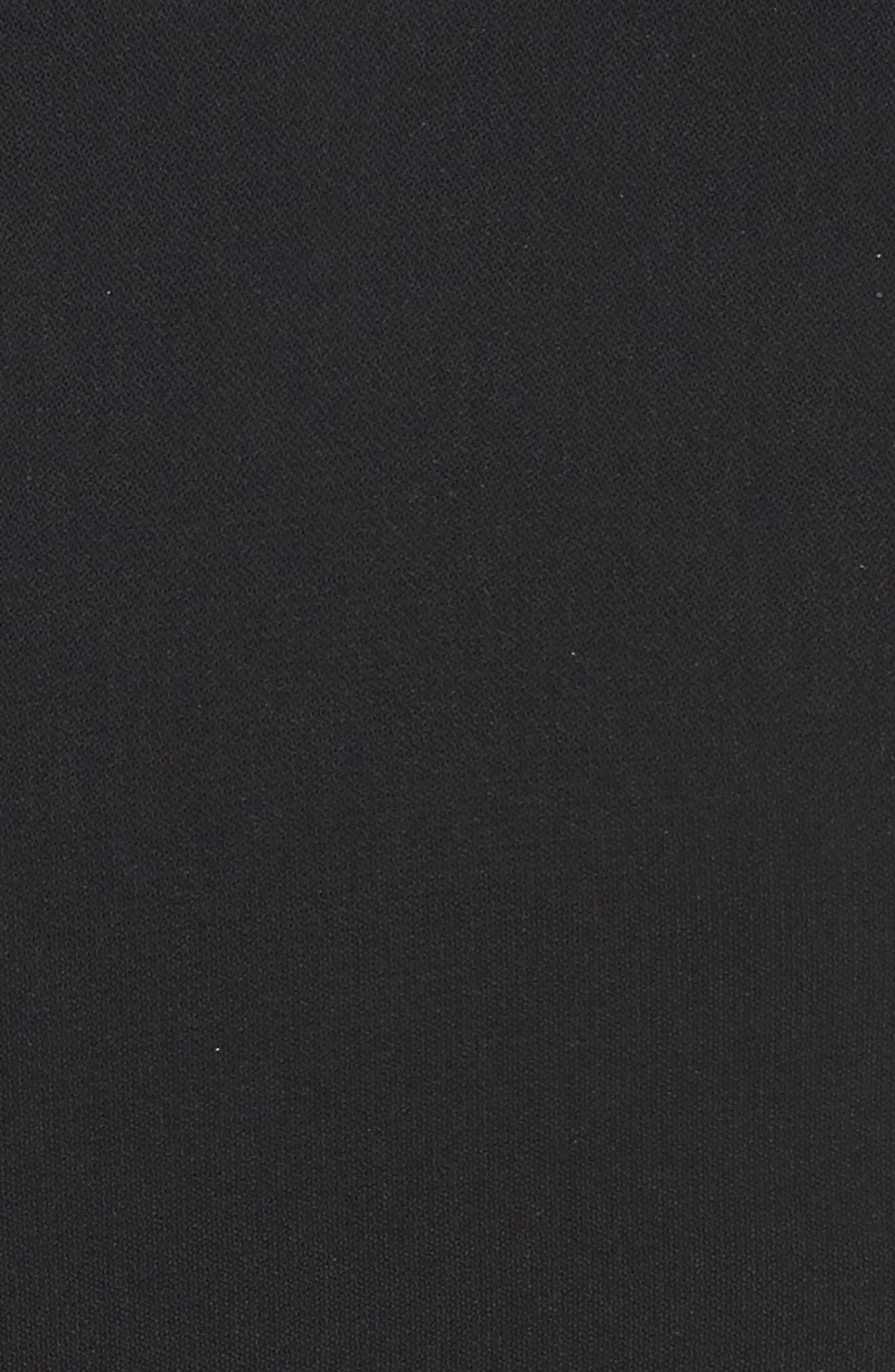 Zipper Detail Sheath Dress,                             Alternate thumbnail 5, color,                             001