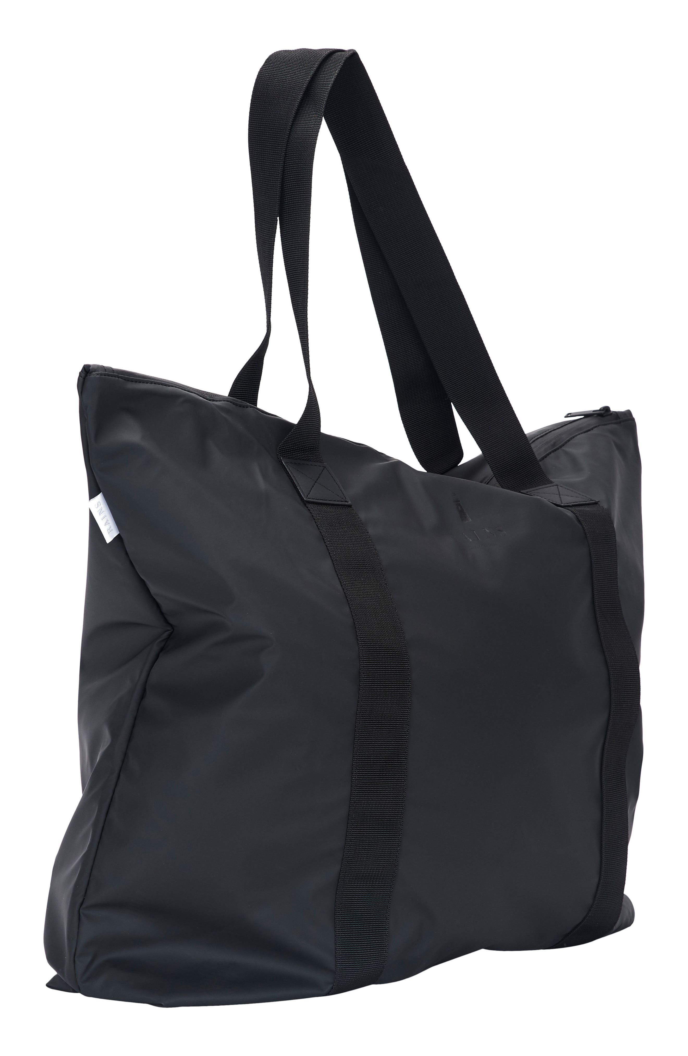 Waterproof Tote Bag,                             Alternate thumbnail 3, color,                             BLACK